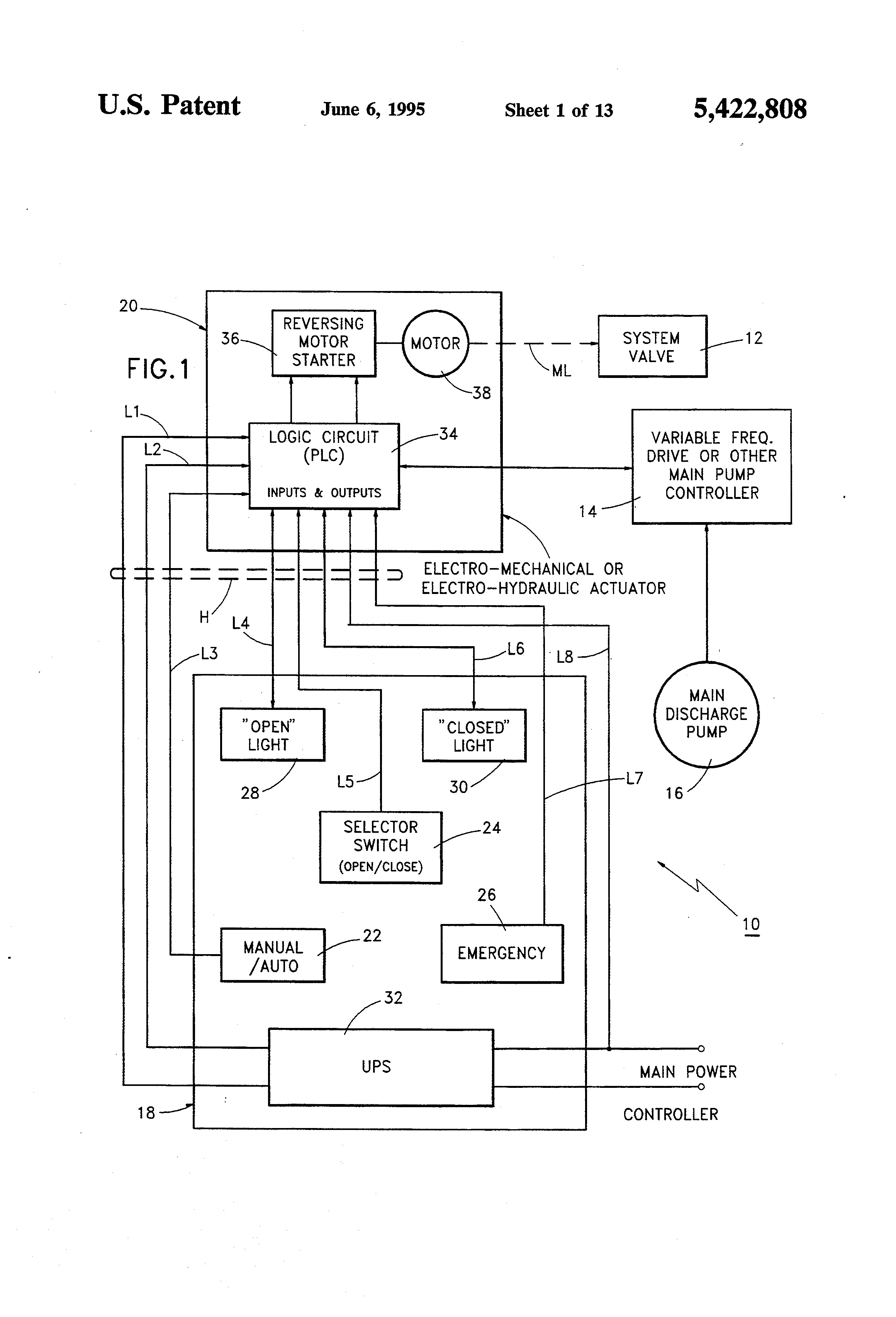 Patent US5422808 Method and apparatus for failsafe control of – Leonard Wiring Schematics