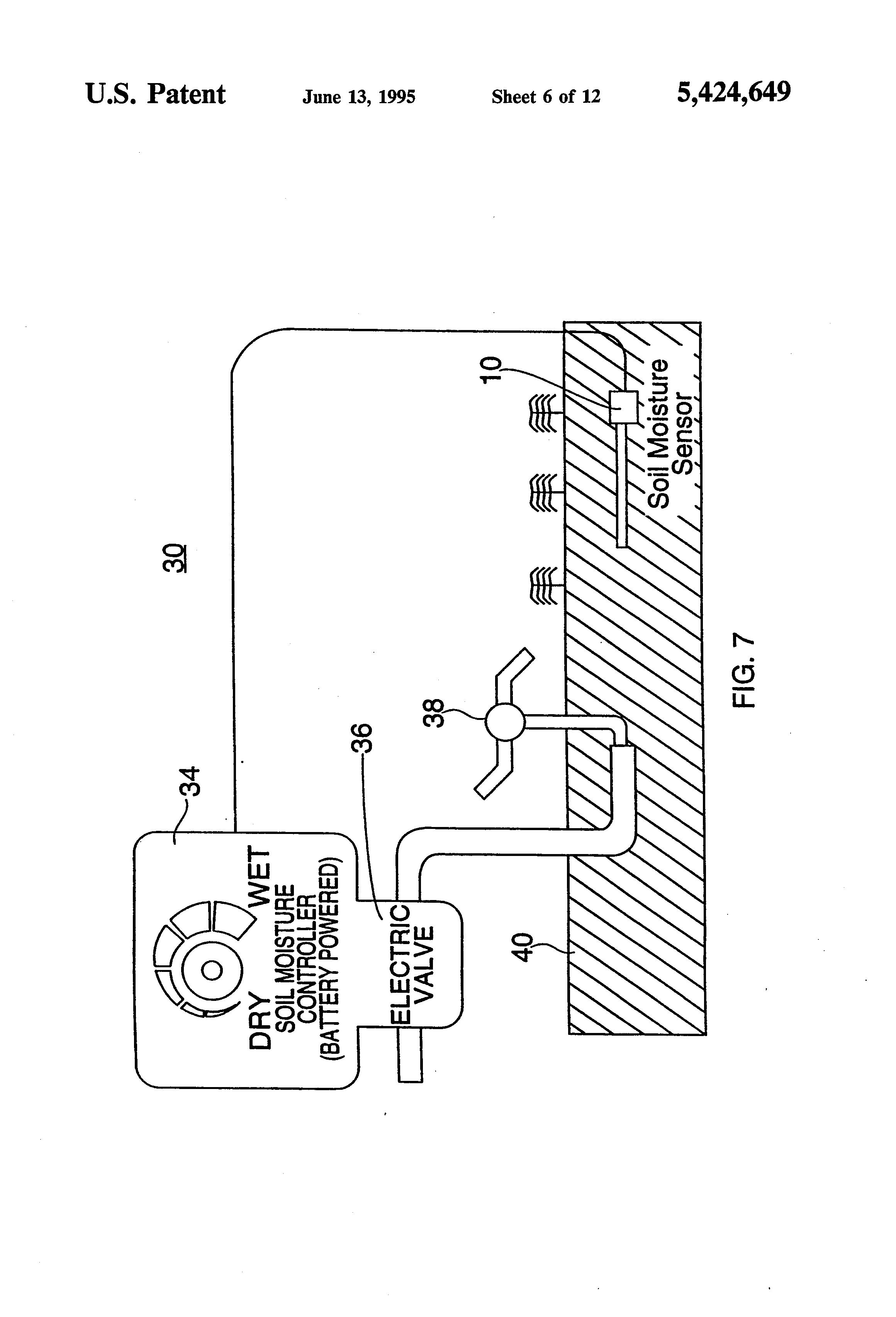 patent us5424649 - soil moisture sensor