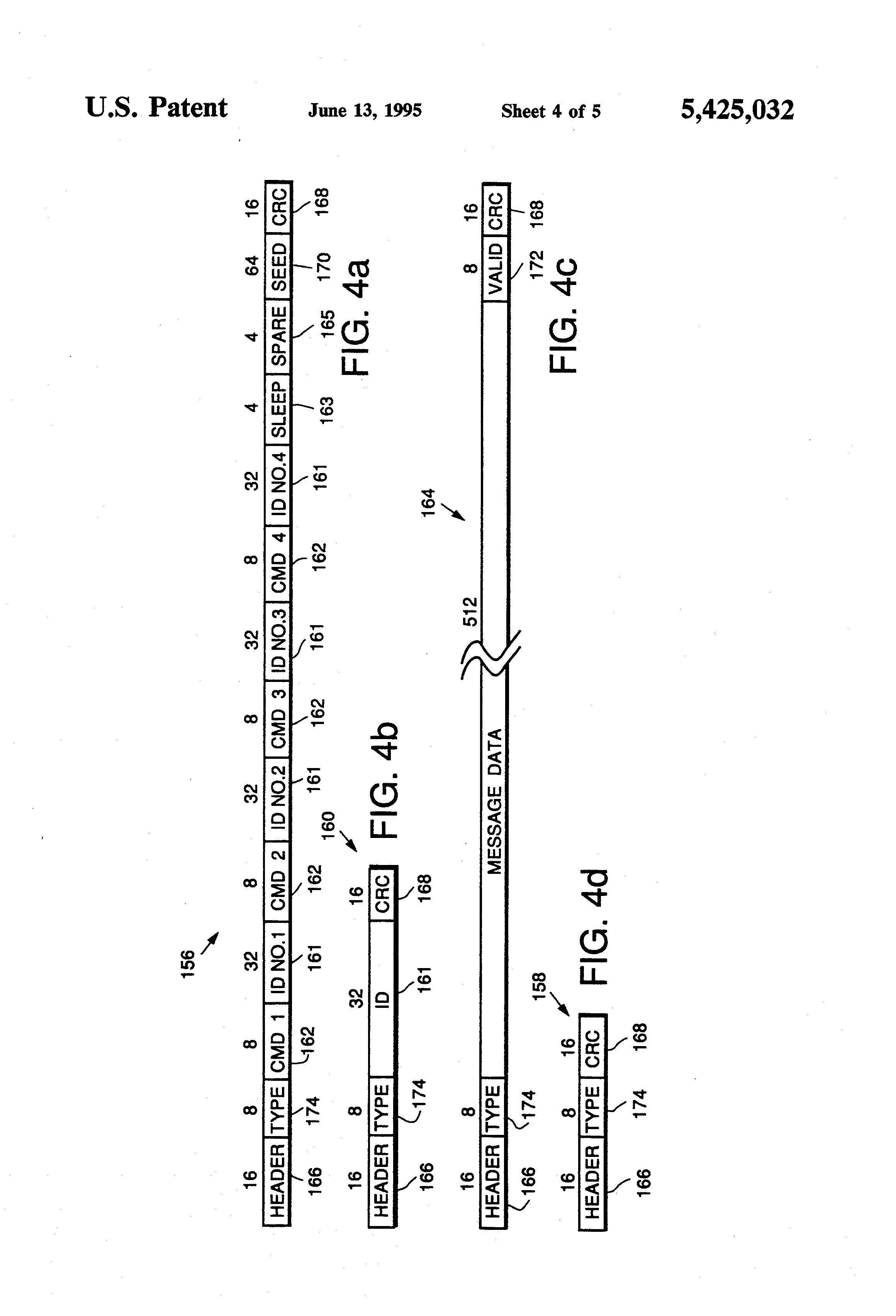 Patent Us5425032 Tdma Network And Protocol For Reader Transponder Minimumcomponent Audio Amplifier Circuit Diagram Tradeoficcom Drawing
