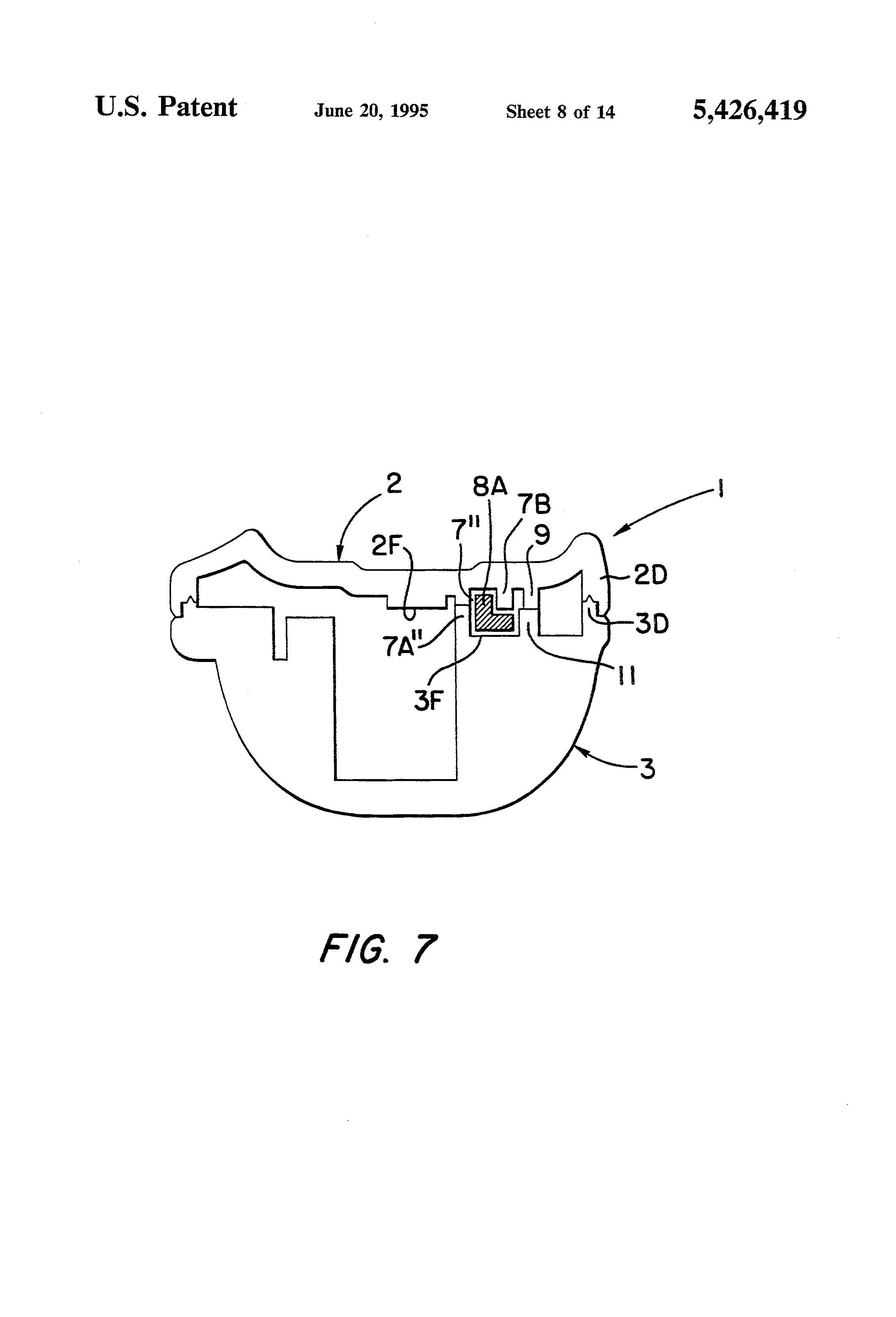 patent us5426419 security tag having arcuate channel and