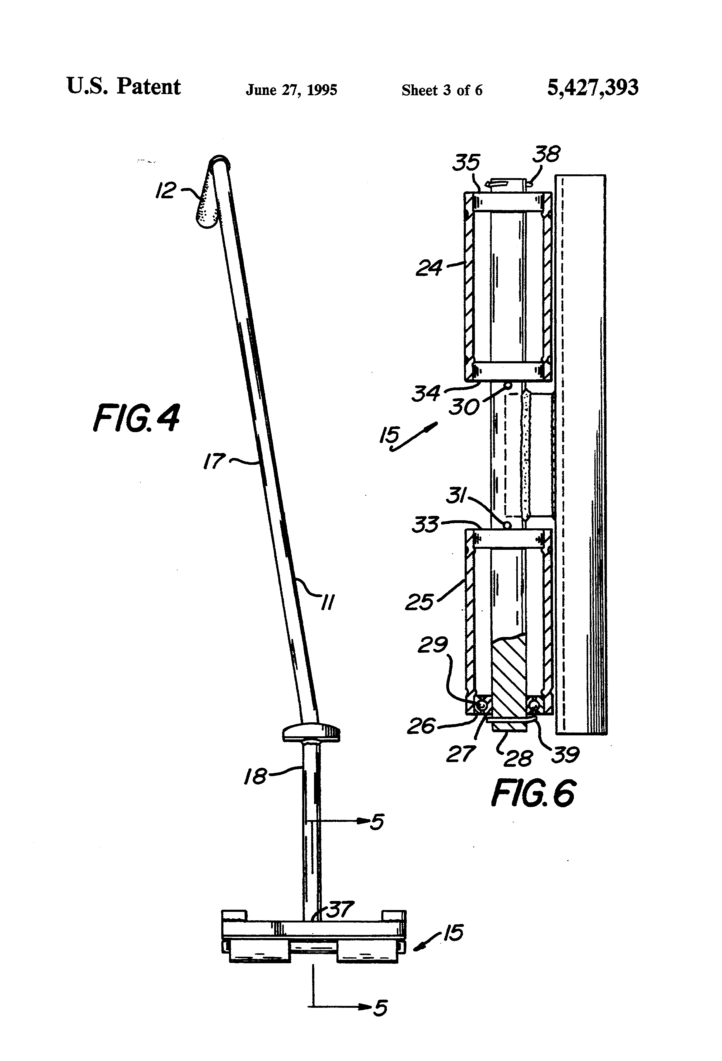 patent us5427393 - crate moving device