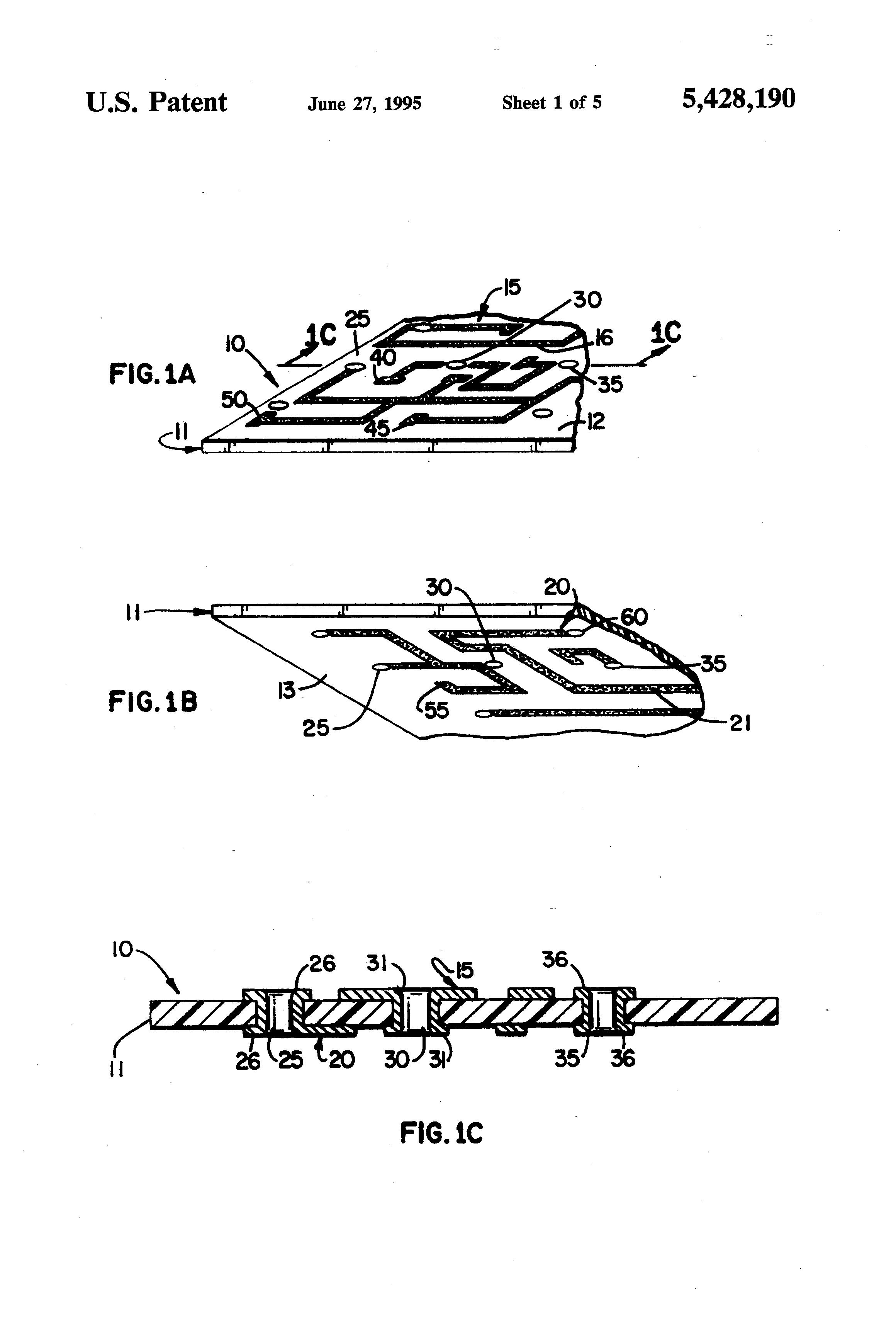 patent us5428190