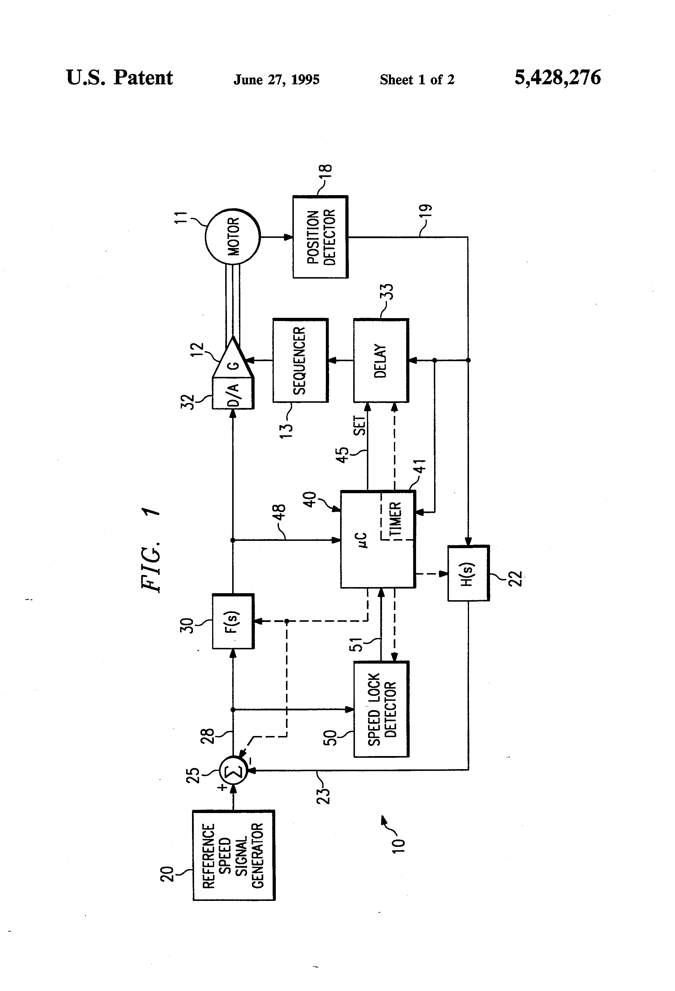 Patent Us5428276 Automatic Adjustment Of Commutation Delay For Brushless Dc Motor Diagram Drawing