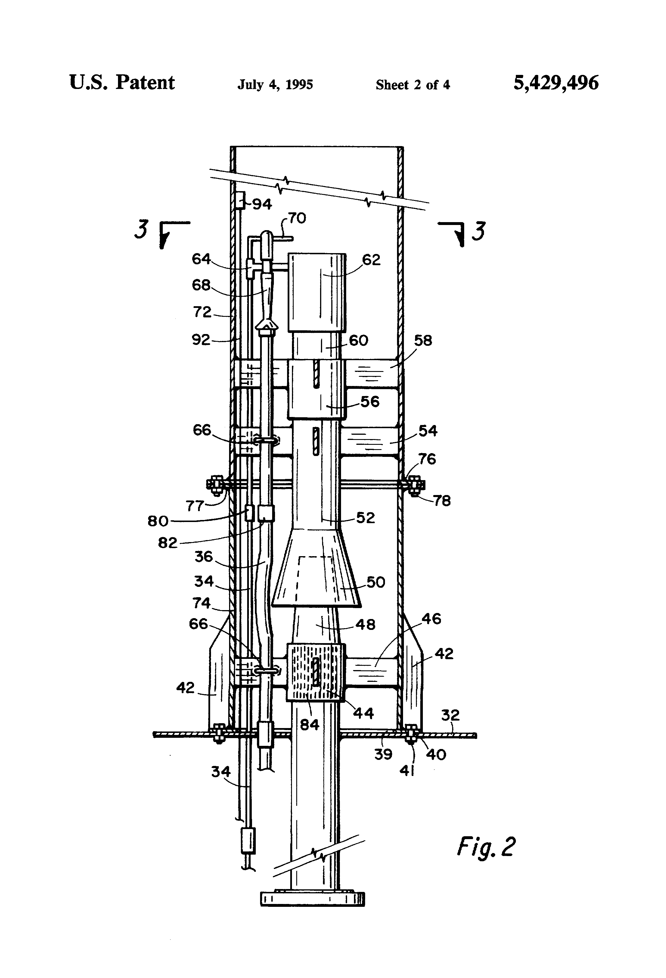 Patent Us5429496 Portable Flare Boom Capable Of Being