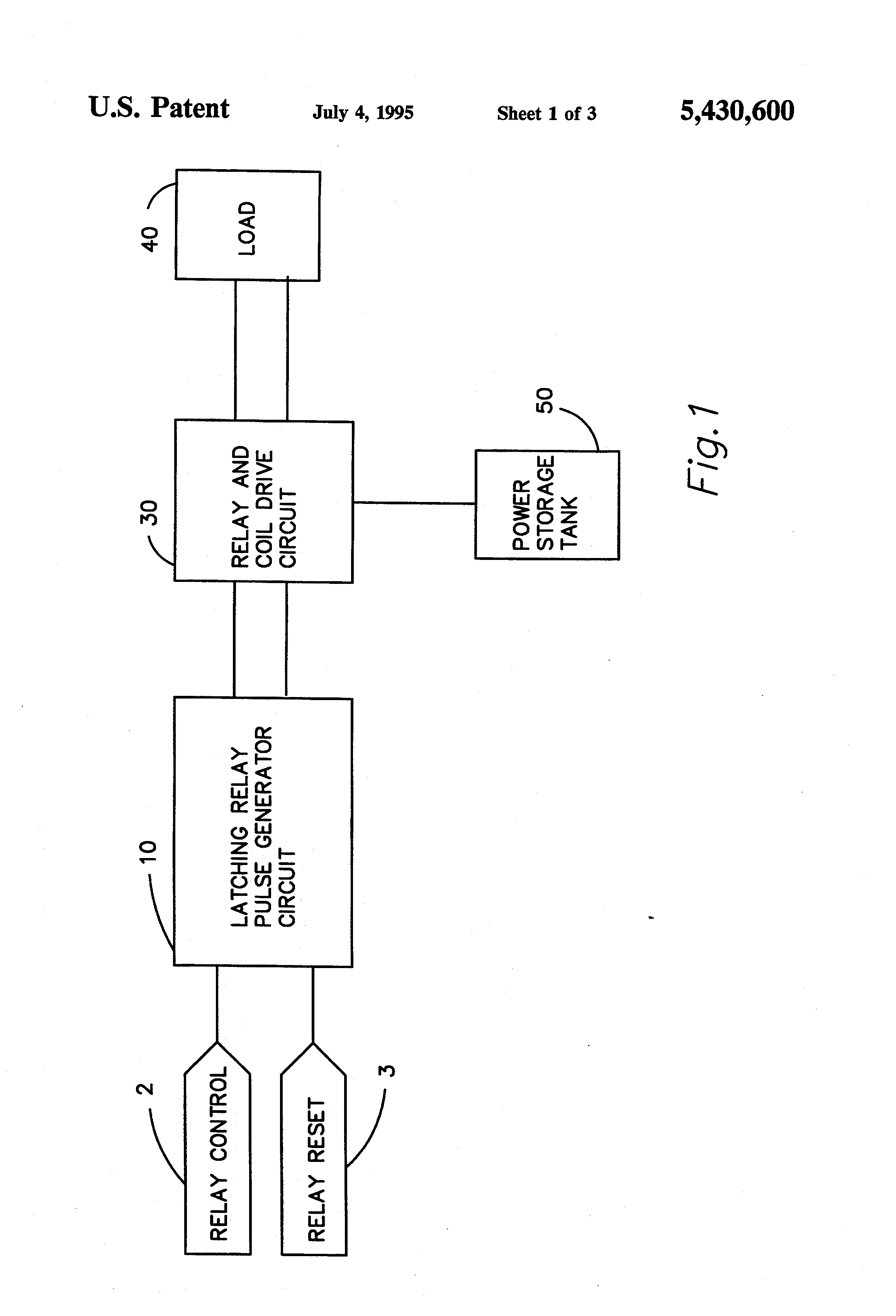 Patent US Latching Relay Control Circuit Google Patents - Two coil latching relay