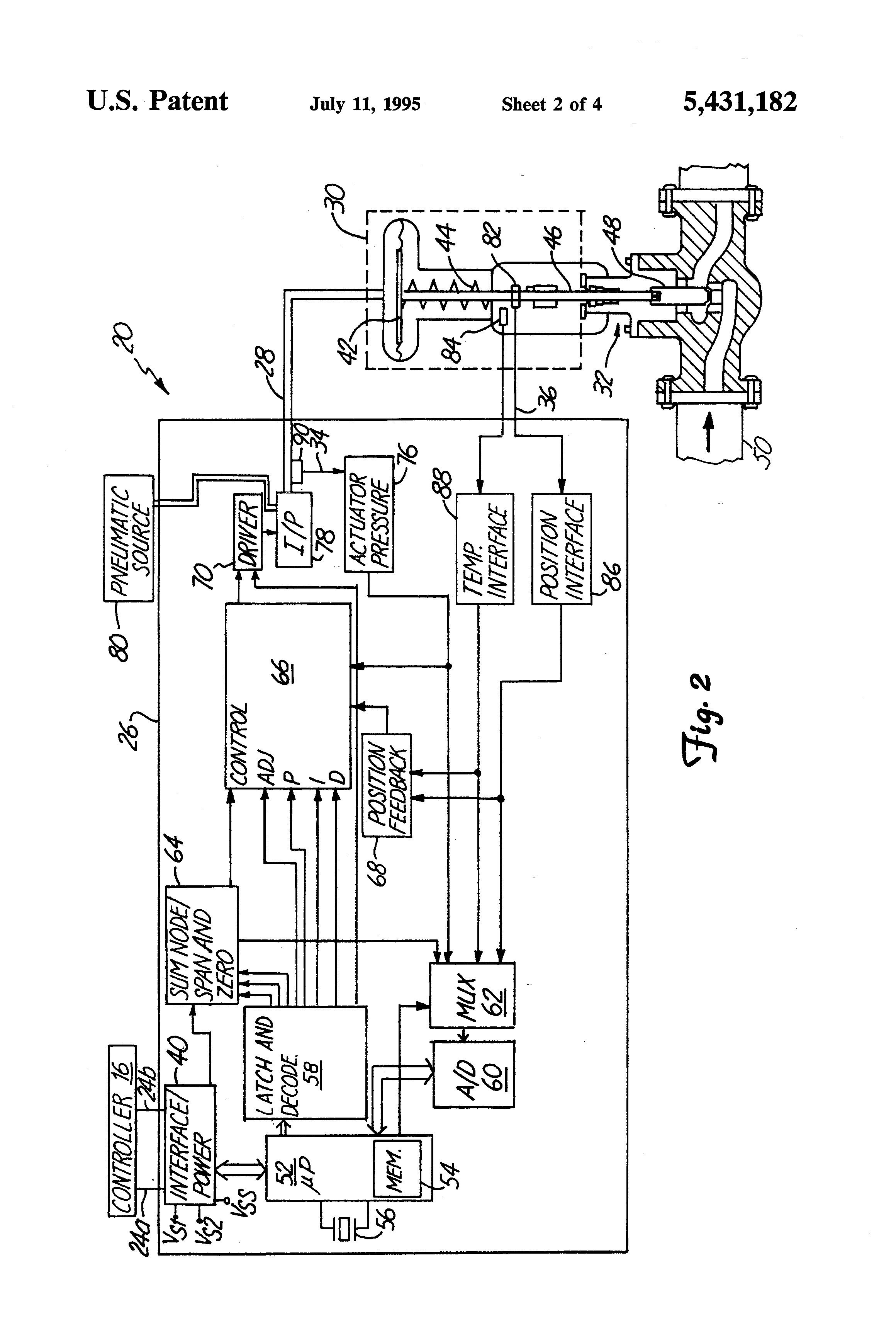 Patent Us5431182 - Smart Valve Positioner