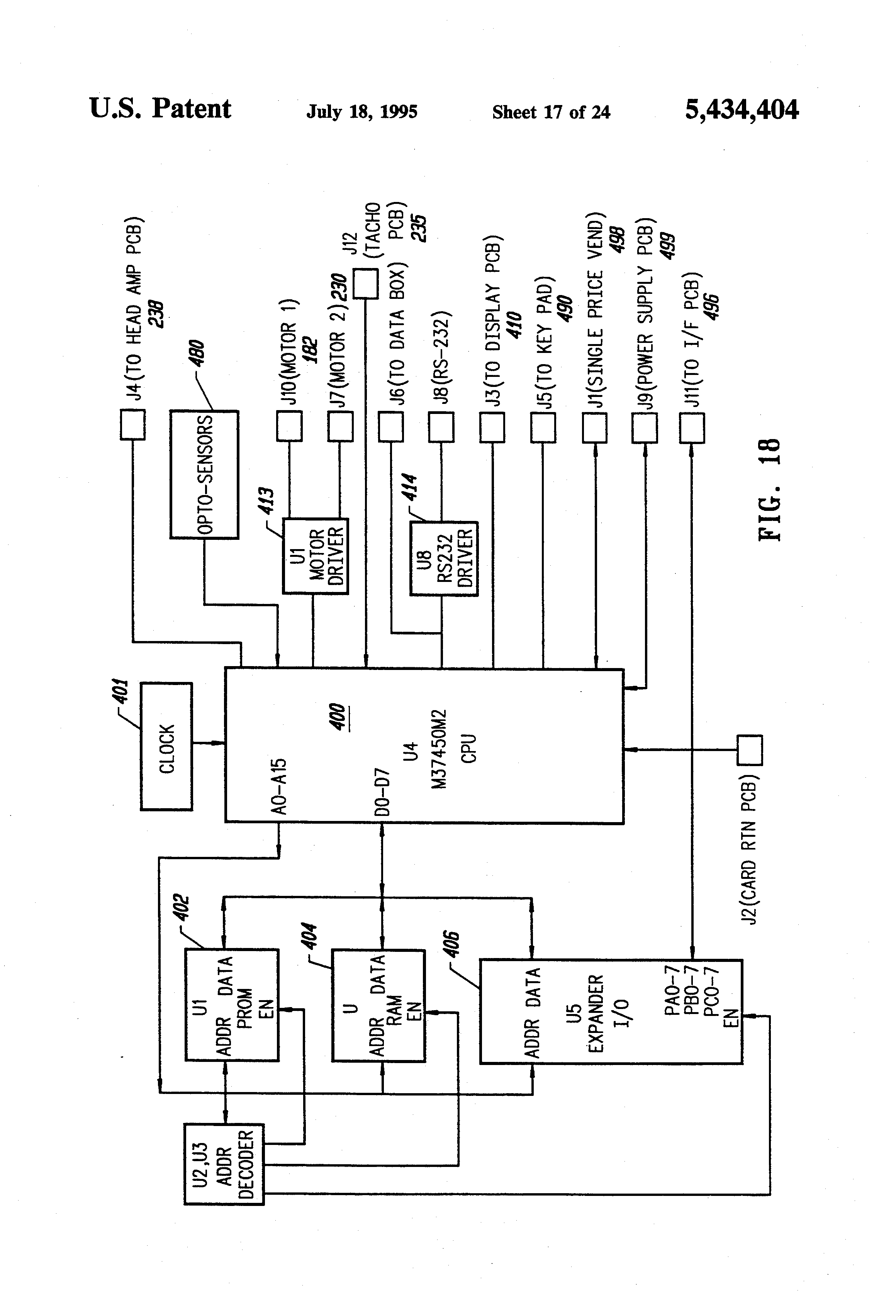 patent us5434404 linear scanner apparatus for communicating patent drawing