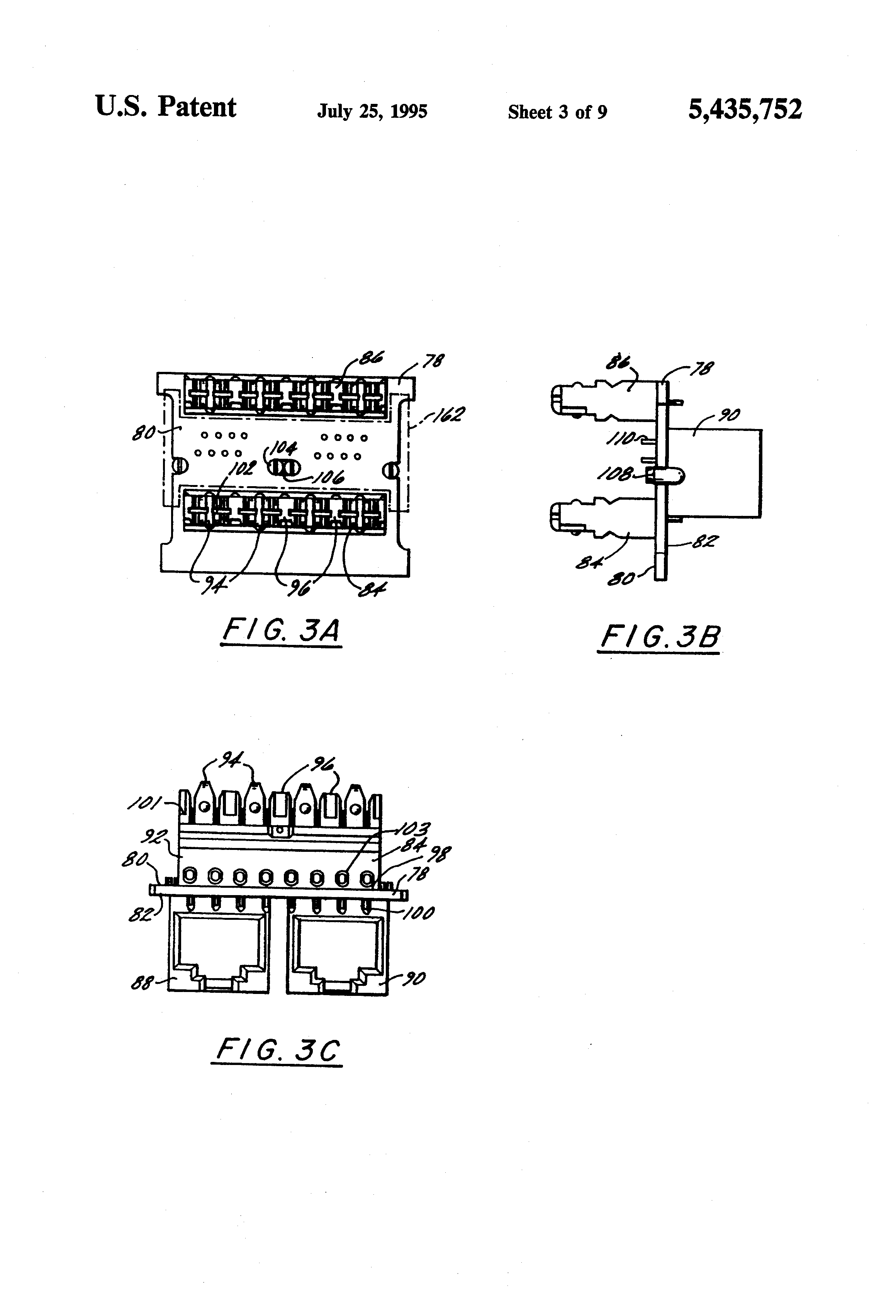 Patent Us5435752 Electrically Balanced Connector Assembly Google Siemon Jack Wiring Diagram Drawing