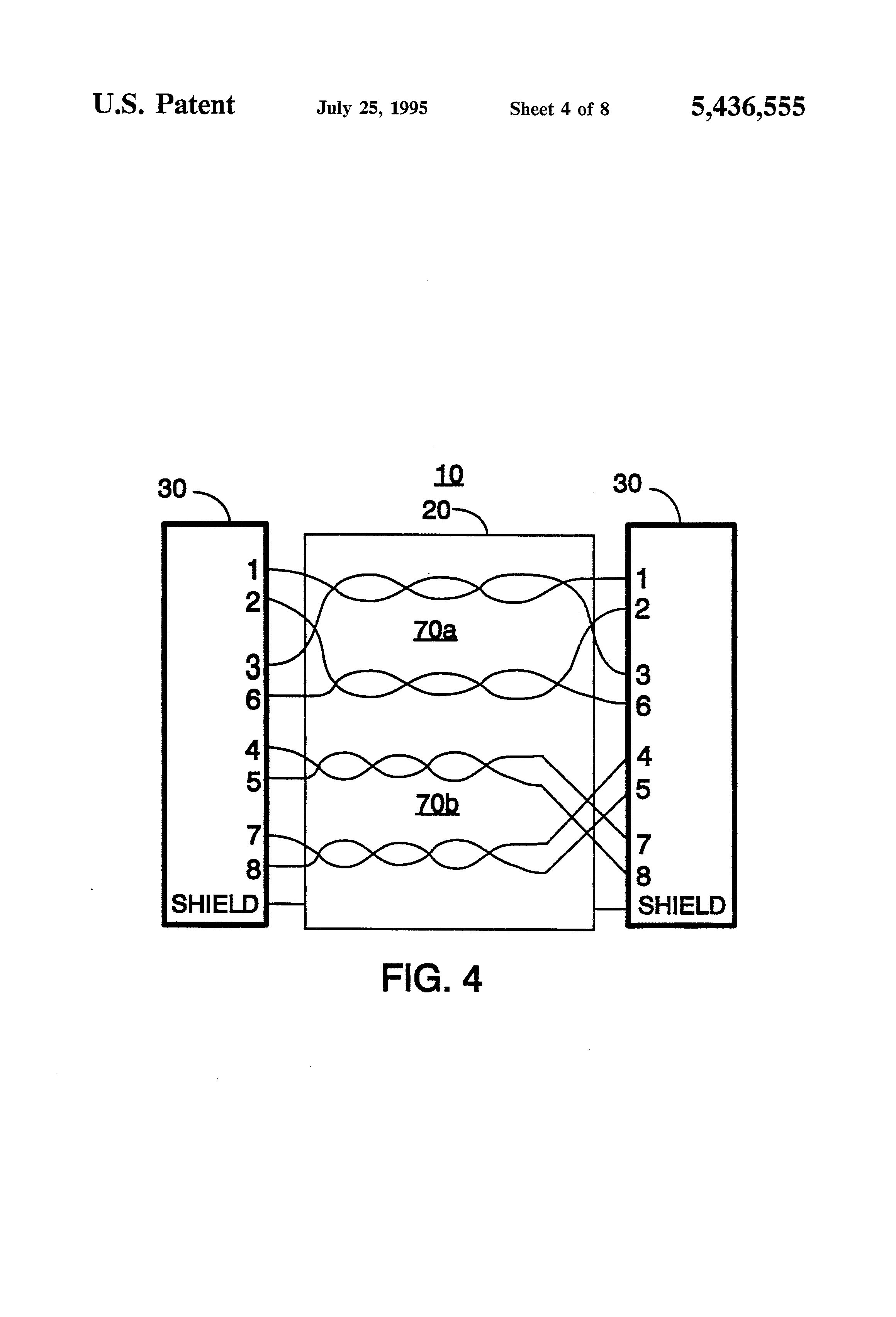 Patent Us5436555 Lan Cable Identifier For Testing Local Area Network Continuity Tester Circuit Schematic Drawing