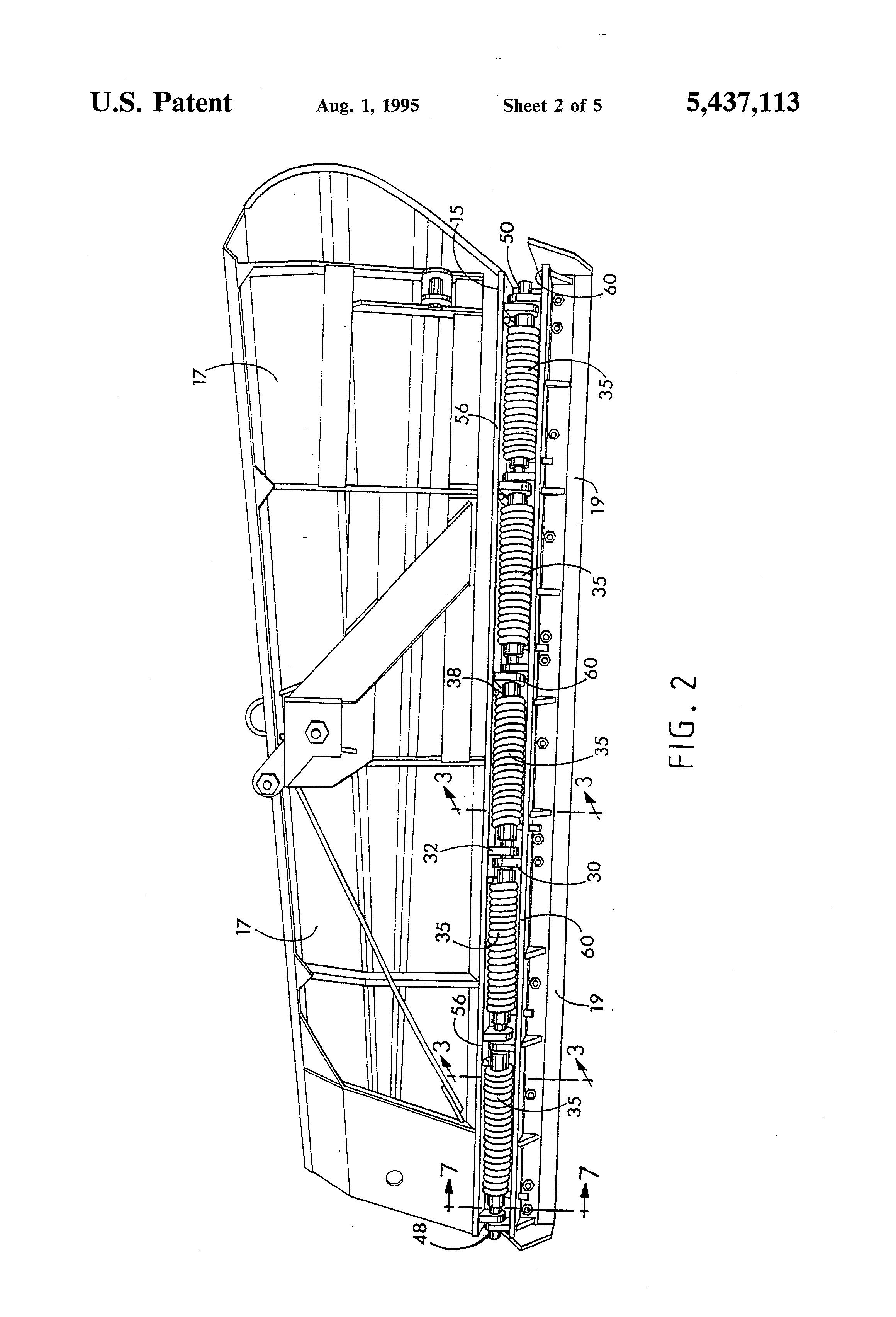 patent us5437113 snow plow trip cutting edge google patents patent drawing