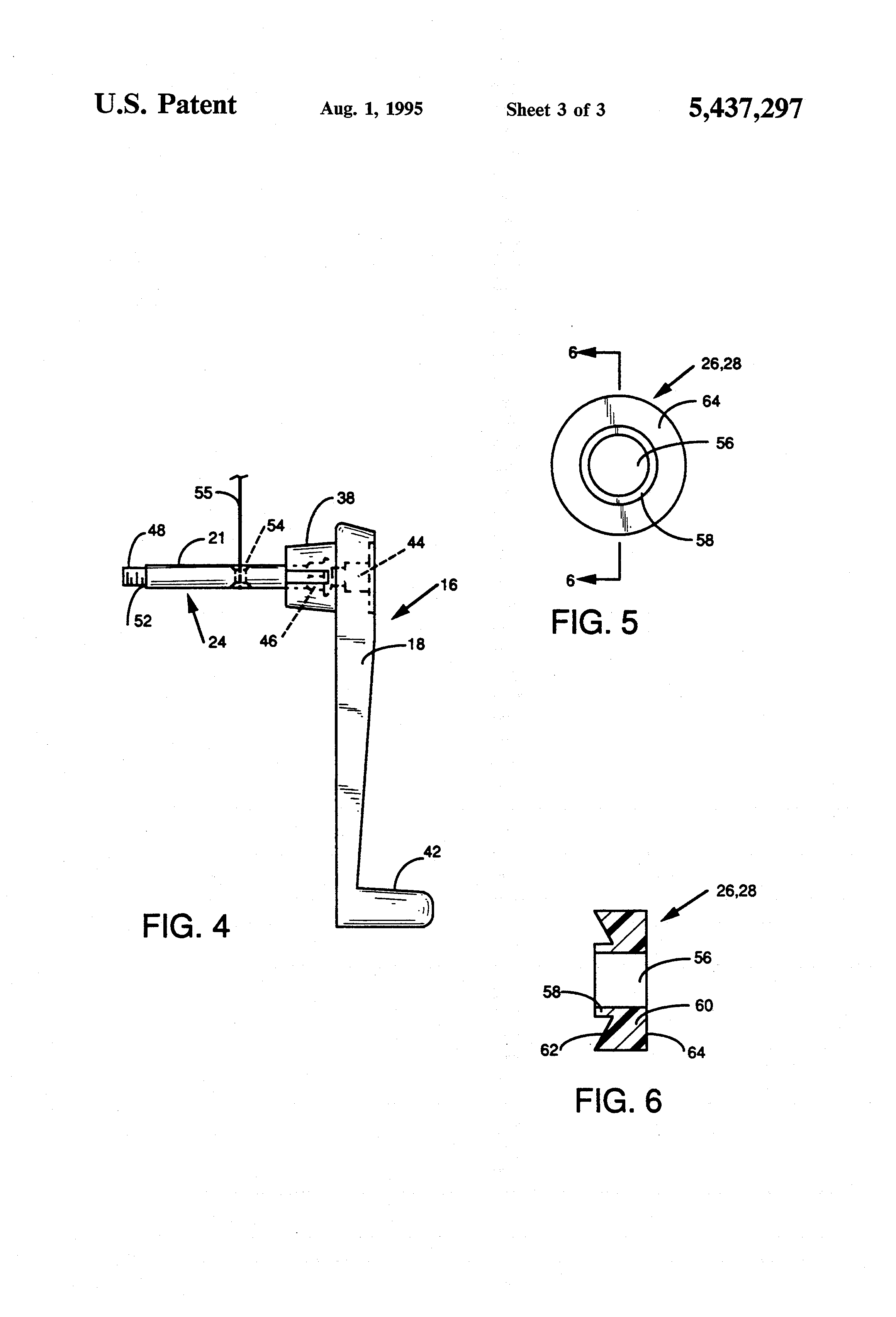 patent us5437297 - crank handle assembly for use in an umbrella