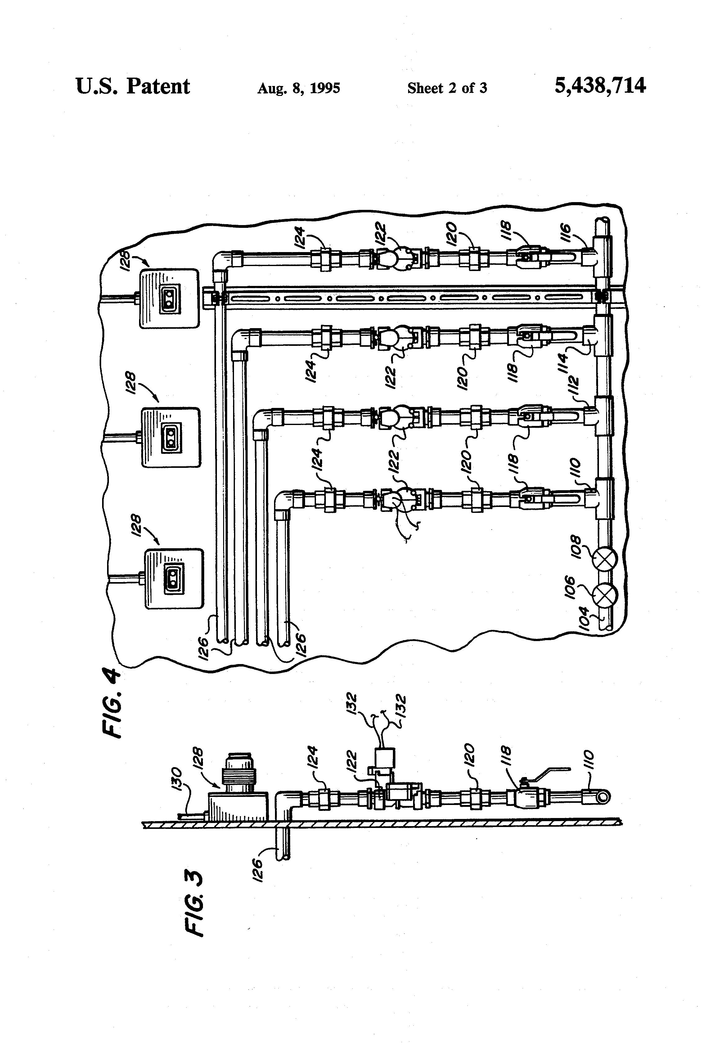 patent us5438714 - fresh water manifold distribution system and method