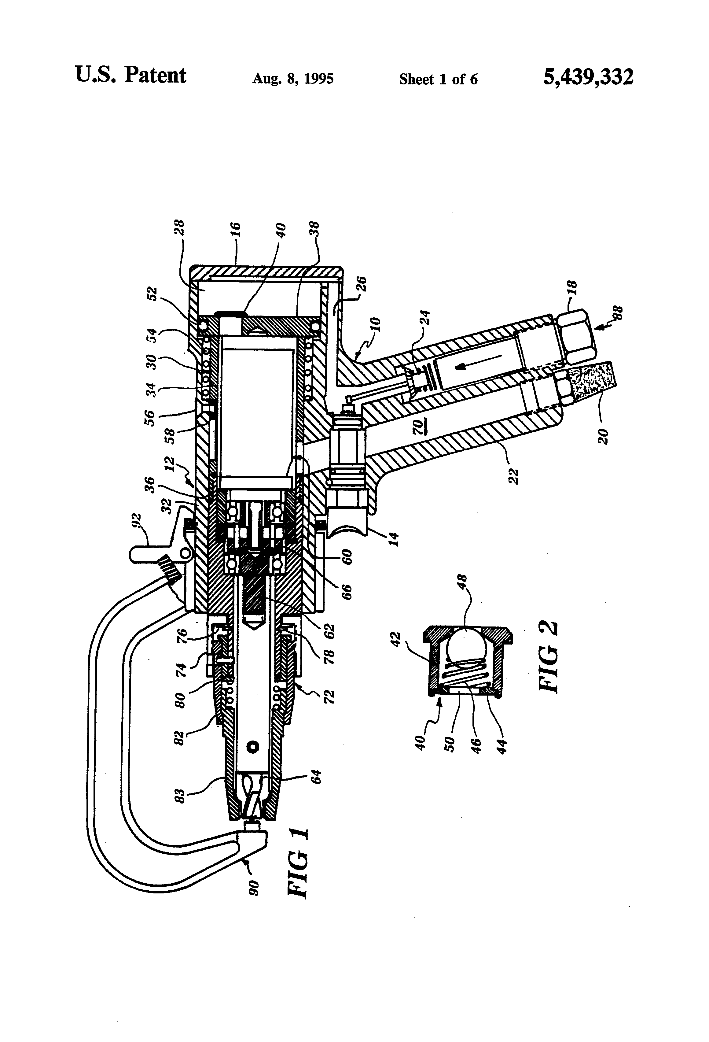 Patent Us5439332 Pneumatic Spot Weld Drill Google Patents Welding Schematic Diagram Drawing