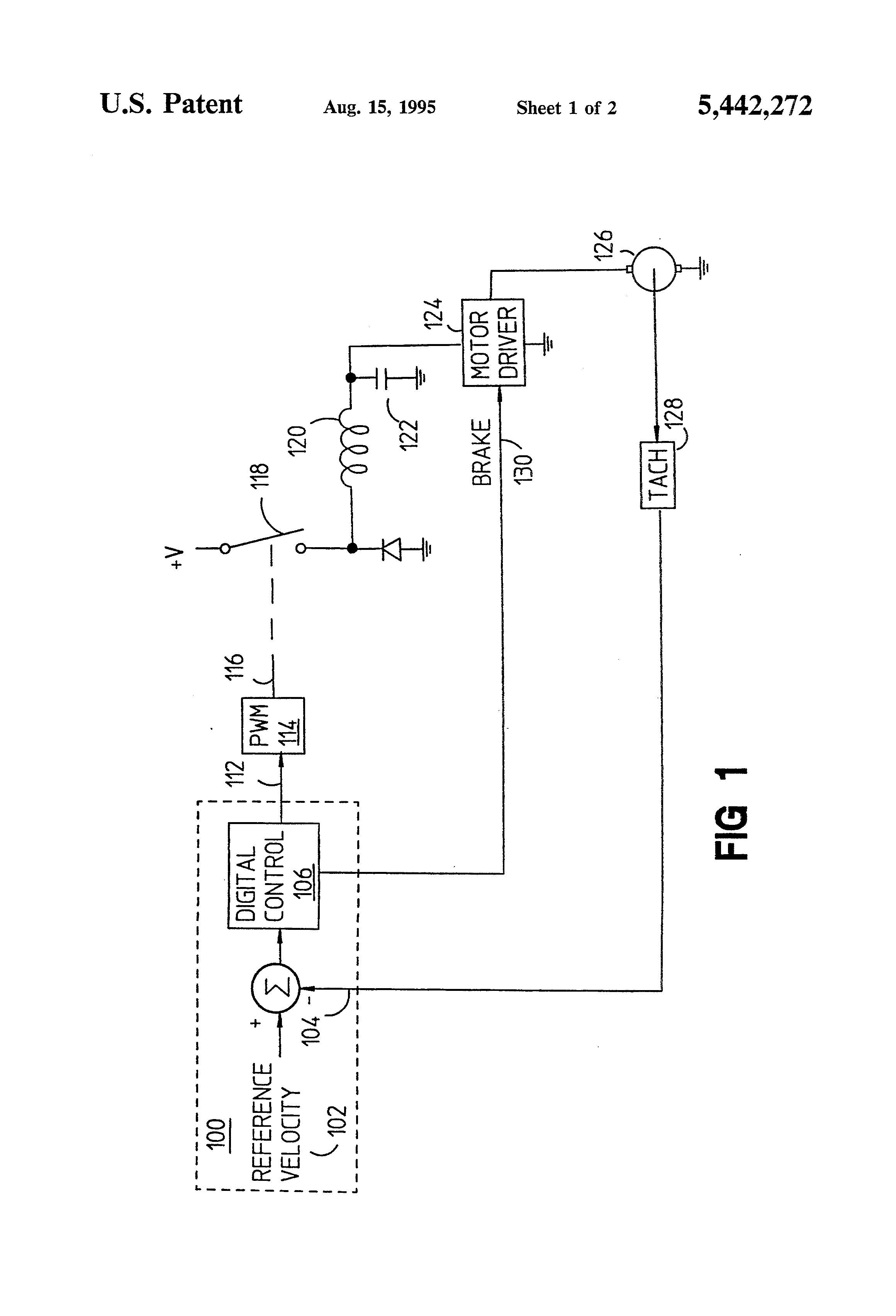 Patent Us5442272 Current Limiting For Dc Electric Motor