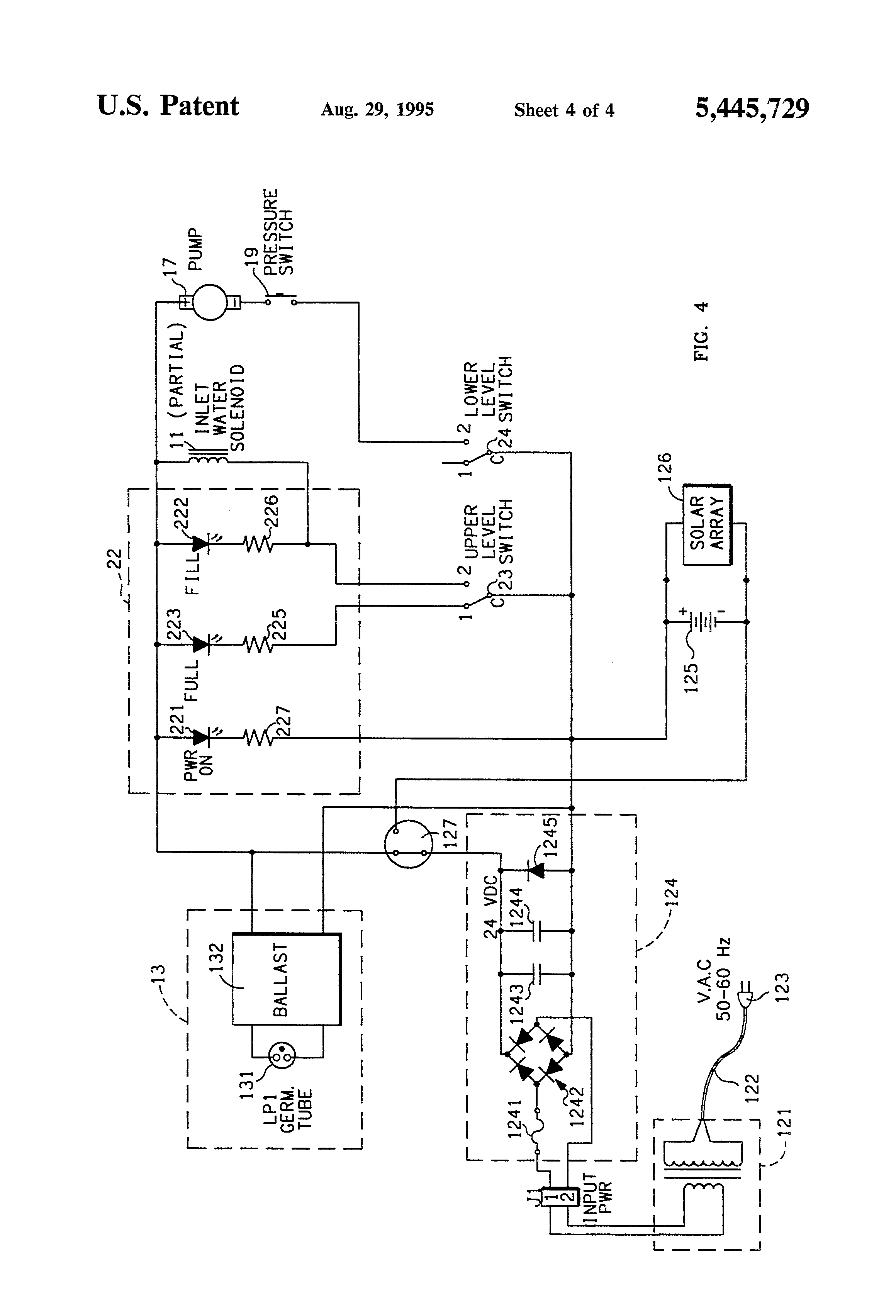 patent us5445729 - counter top reverse osmosis system