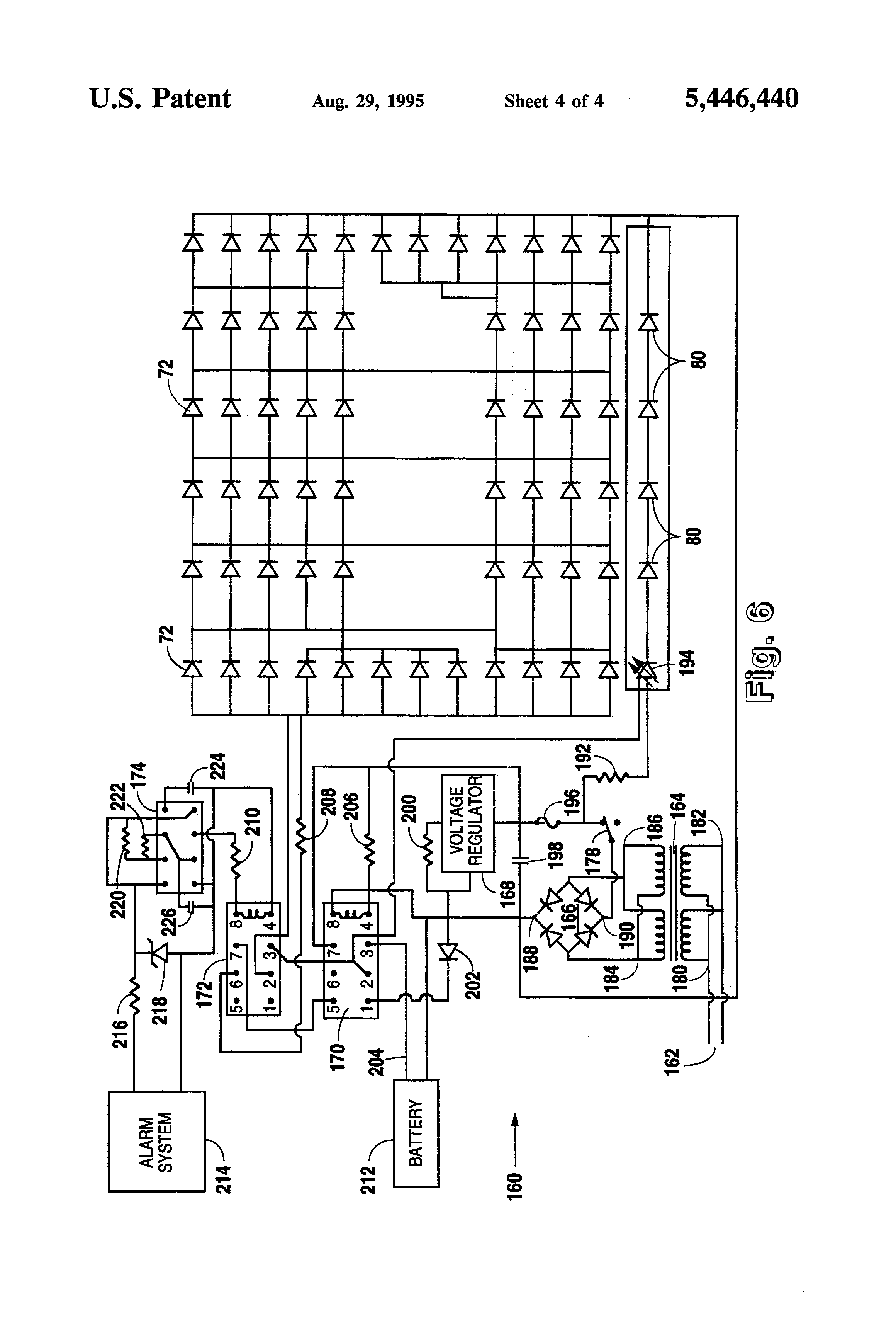 patent us5446440 emergency sign and control circuit google patents patent drawing