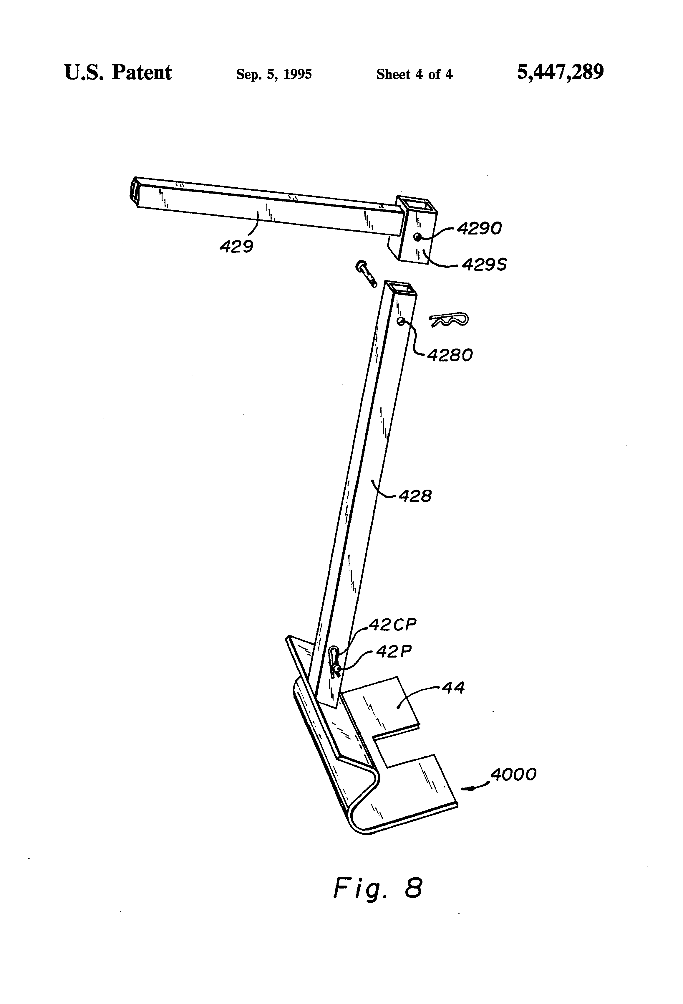 Patent US Pry shovel tool for wooden pallet deck board