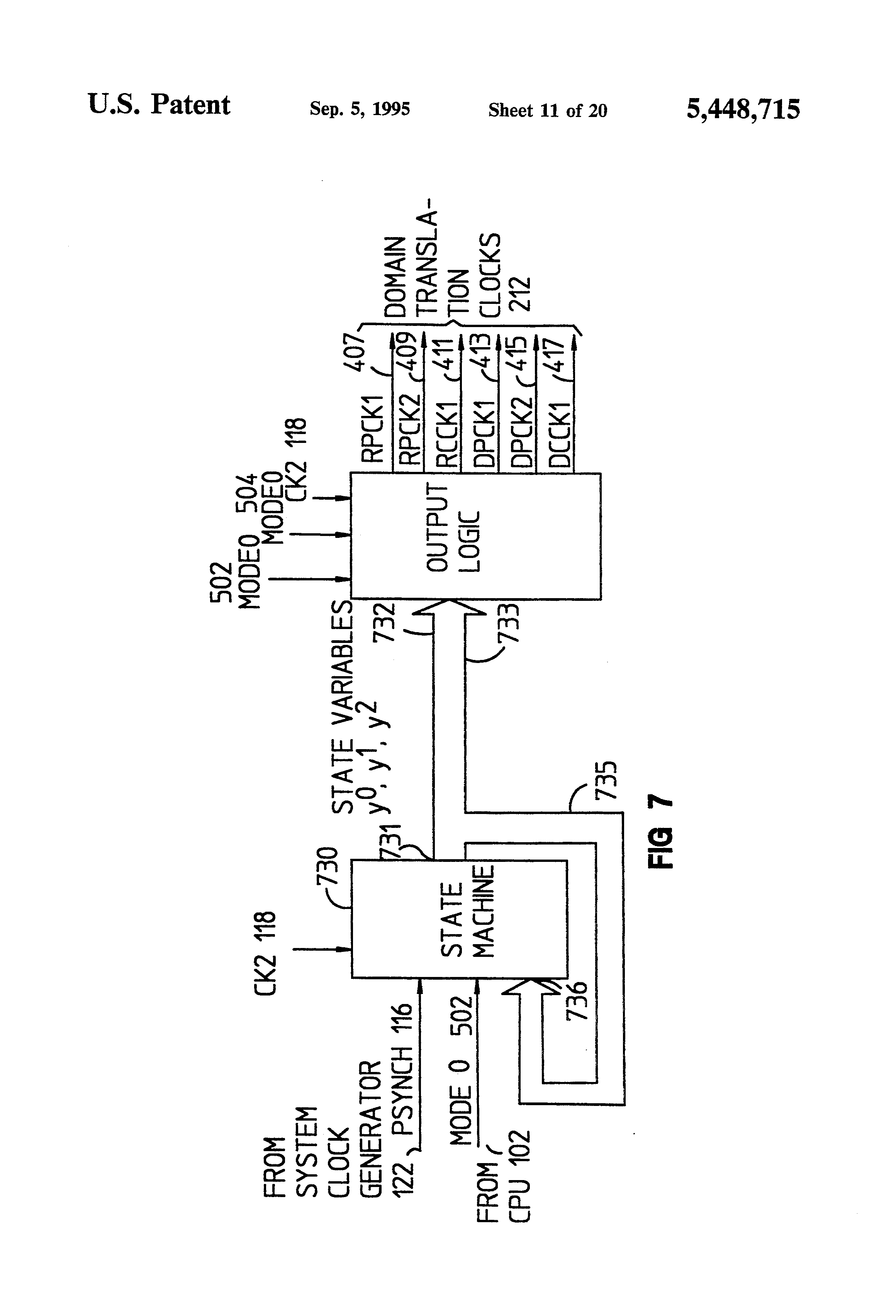Patent Us5448715 Dual Clock Domain Interface Between Cpu And Circuit Diagram Of A Drawing
