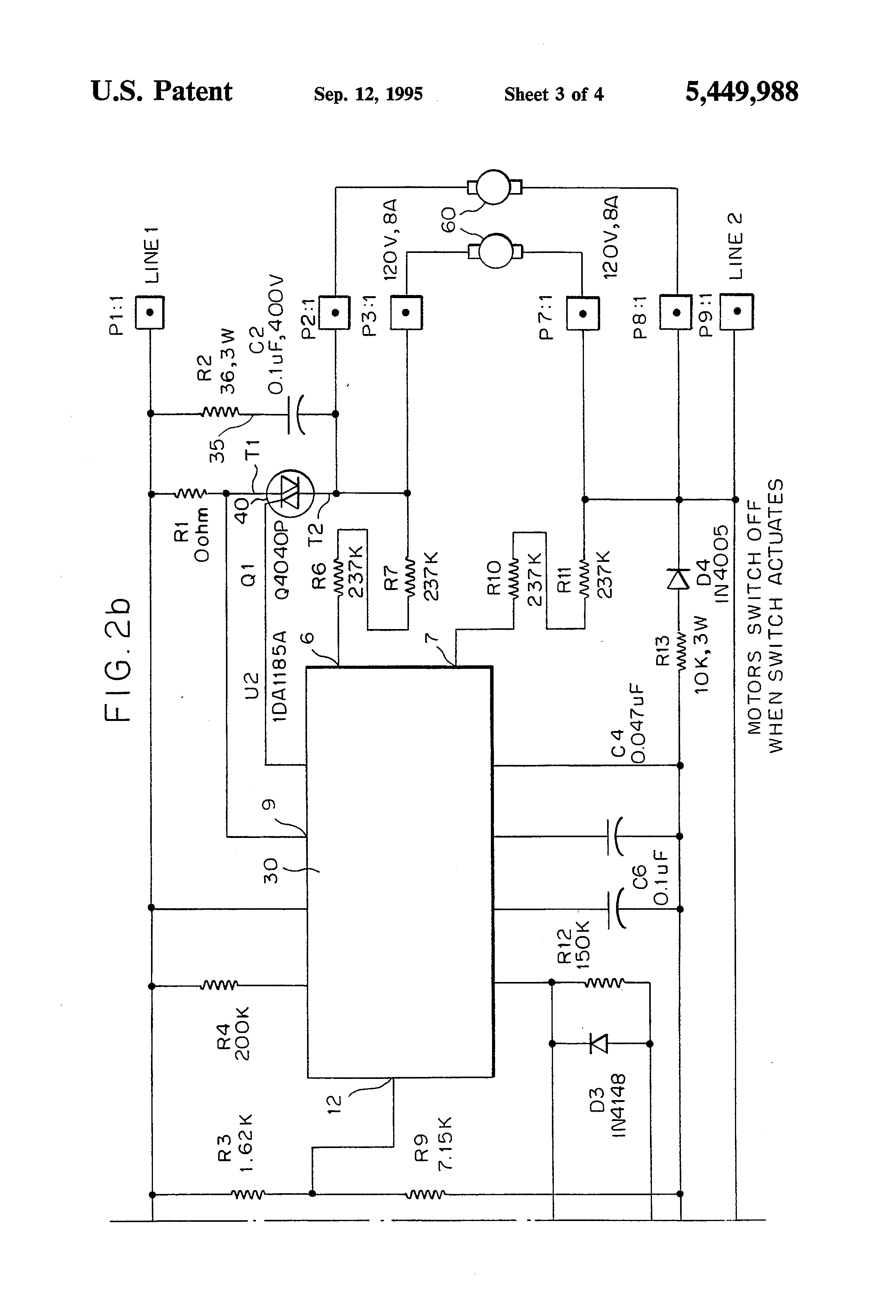 patent us5449988 vacuum motor control including float switch and patent drawing