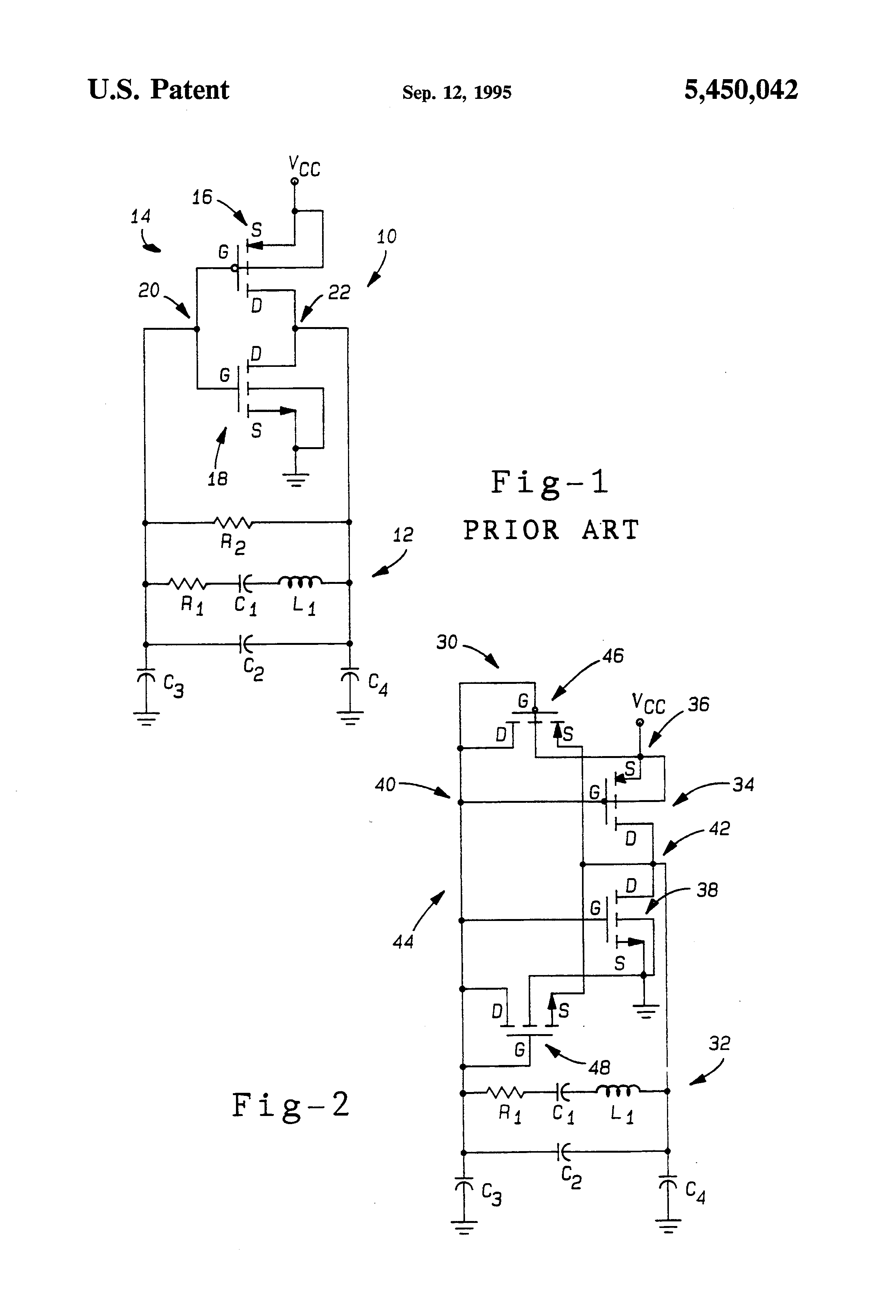 Brevet Us5450042 Low Distortion Crystal Oscillator Circuit Is Similar To The Transistor Version Of Hartley Patent Drawing