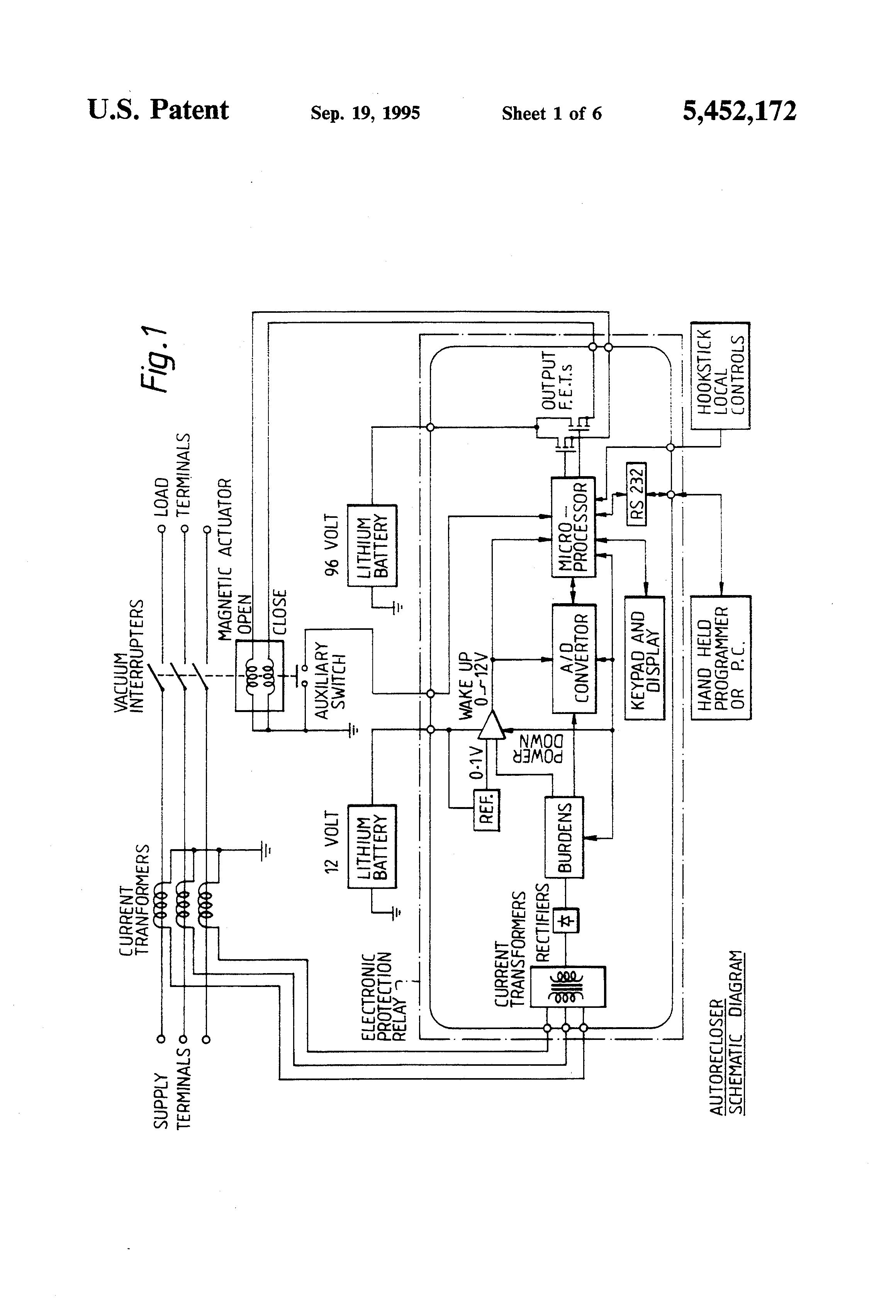 patent us5452172 - auto-reclosers
