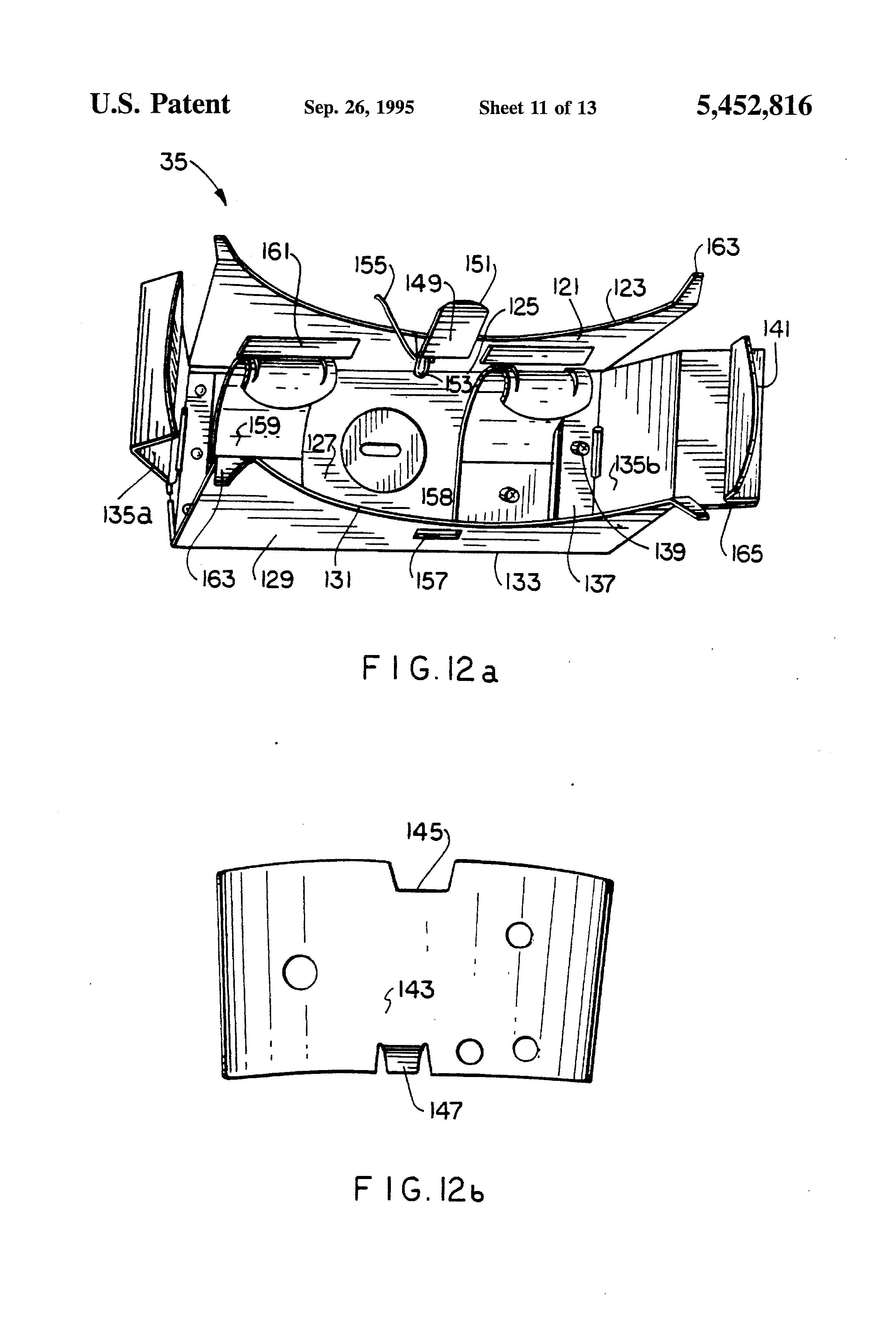 patent us5452816 - recessed lighting fixture