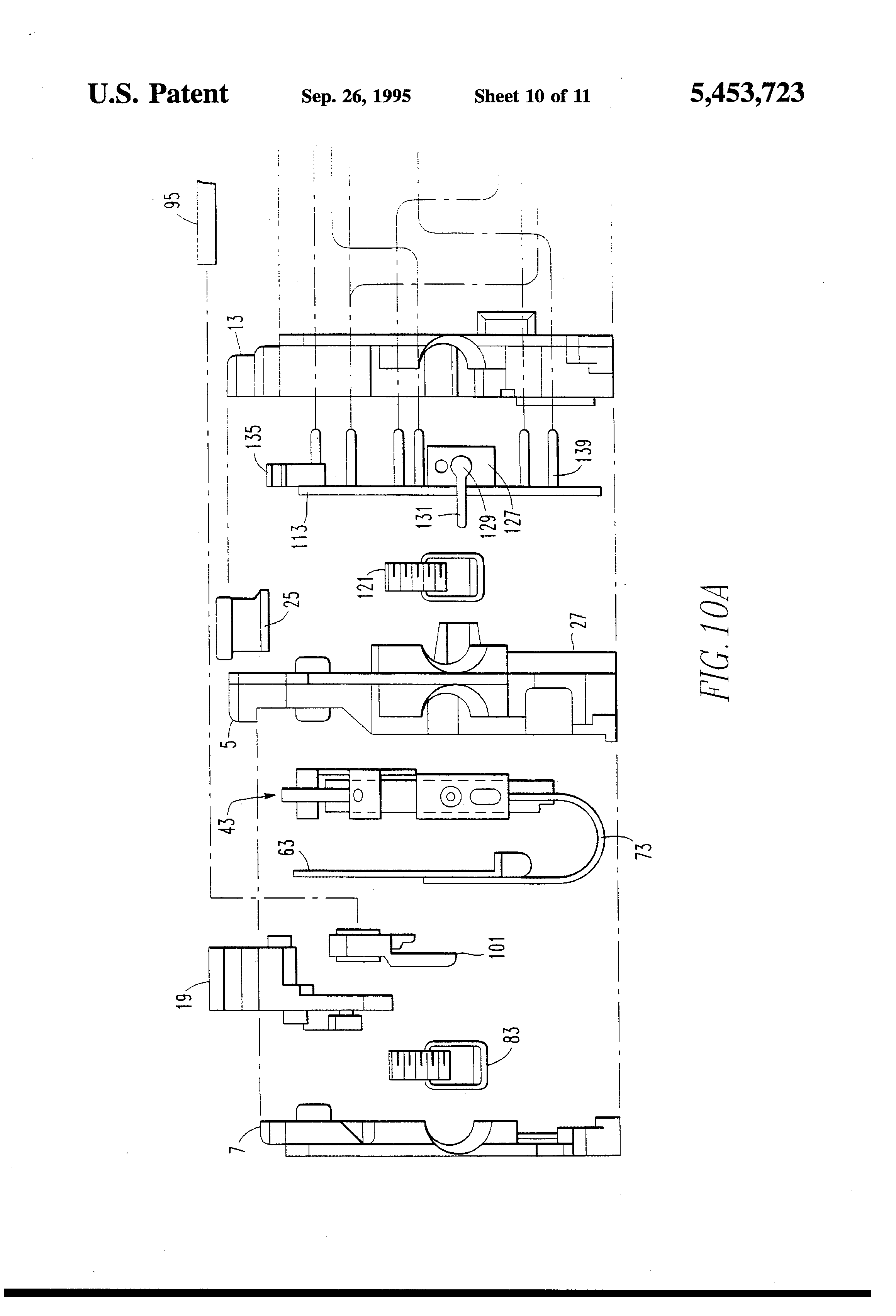 Patent Us5453723 Two Pole Compartmentalized Ground Fault Miniature Details About Circuit Breaker Thermal Pcb 5a Breakers Drawing
