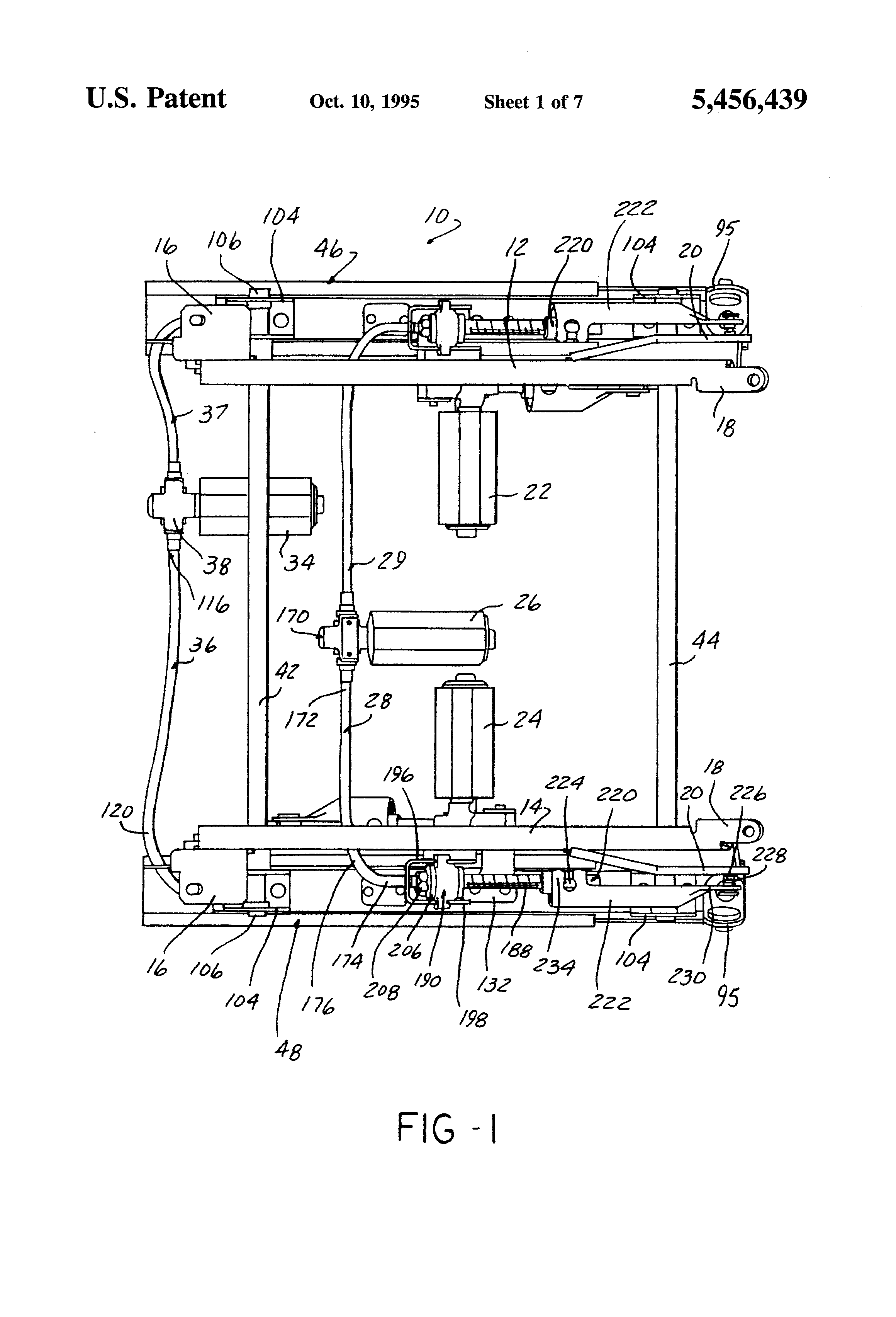Patent us5456439 vehicle power seat adjuster with self aligning patent drawing hexwebz Image collections