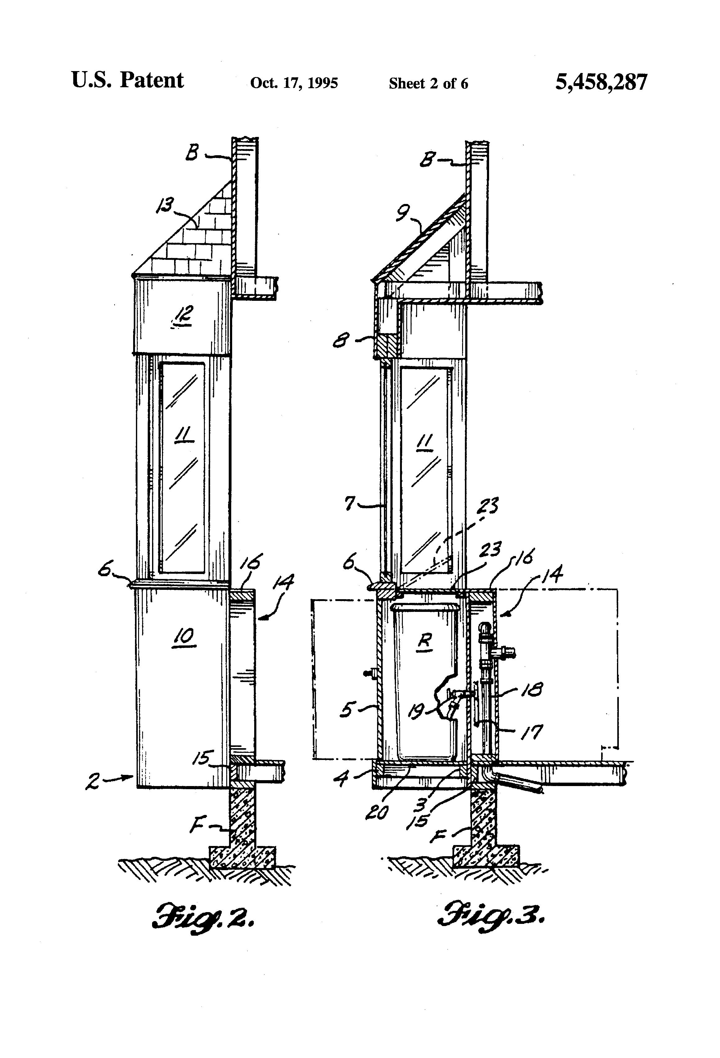 Patent Us5458287 Prefabricated Bay Window Conservatory