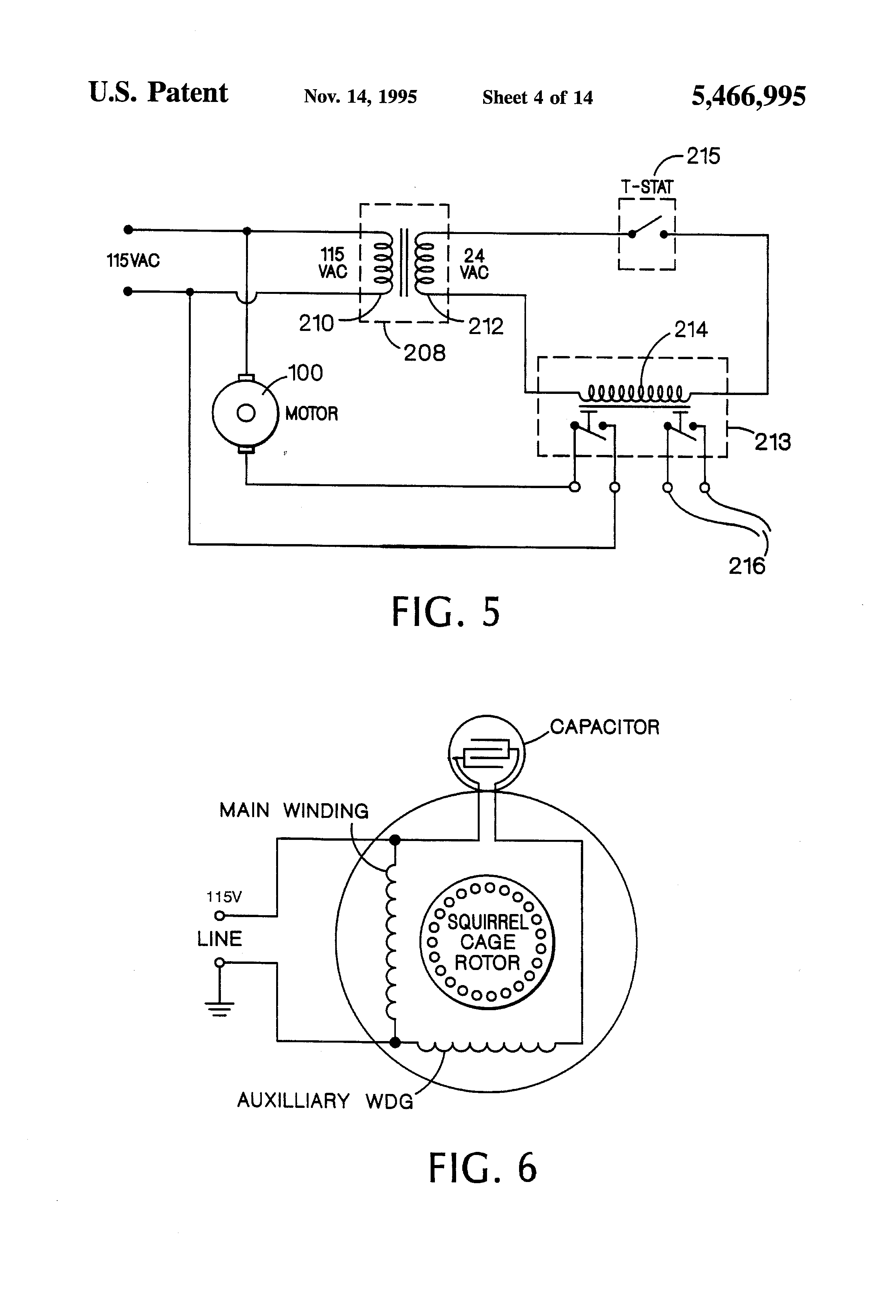 US5466995 4 patent us5466995 zoning circulator controller google patents grundfos motor wiring diagram at n-0.co