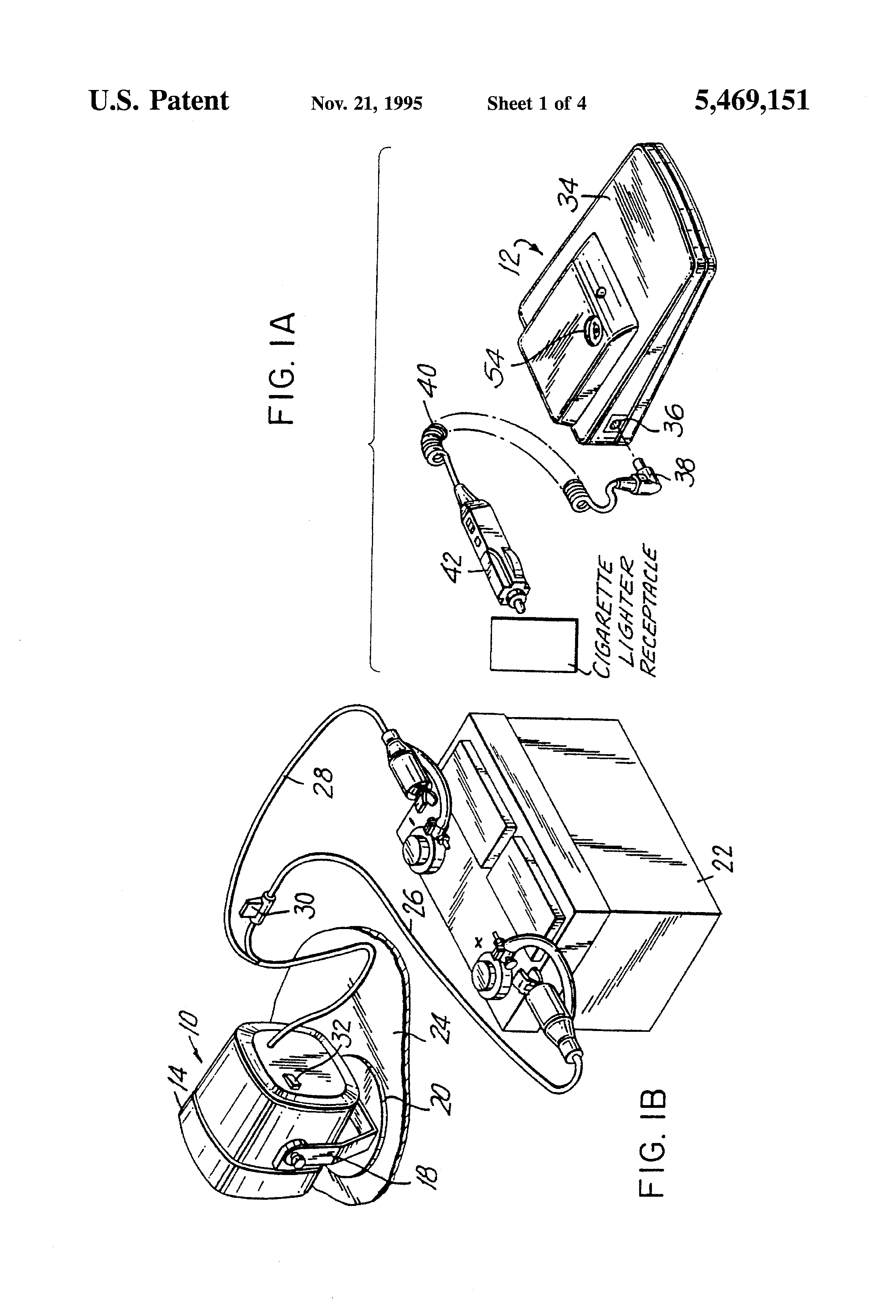 patent us5469151 remote car alarm system with wireless module interconnect