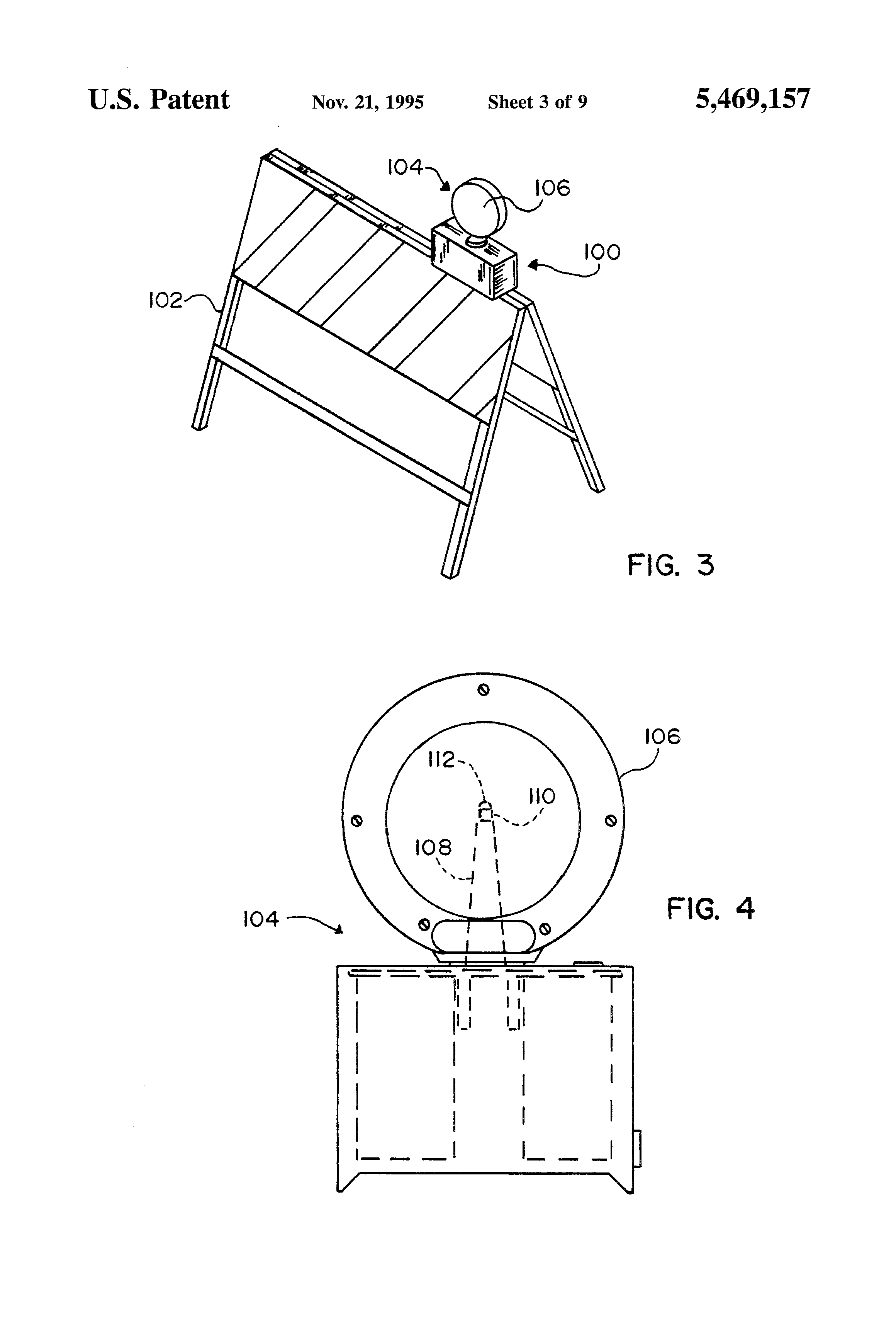 Patent Us5469157 Barricade Light With Emitting Diode Led Bulb Google Patente On Wire Battery Circuit Drawing