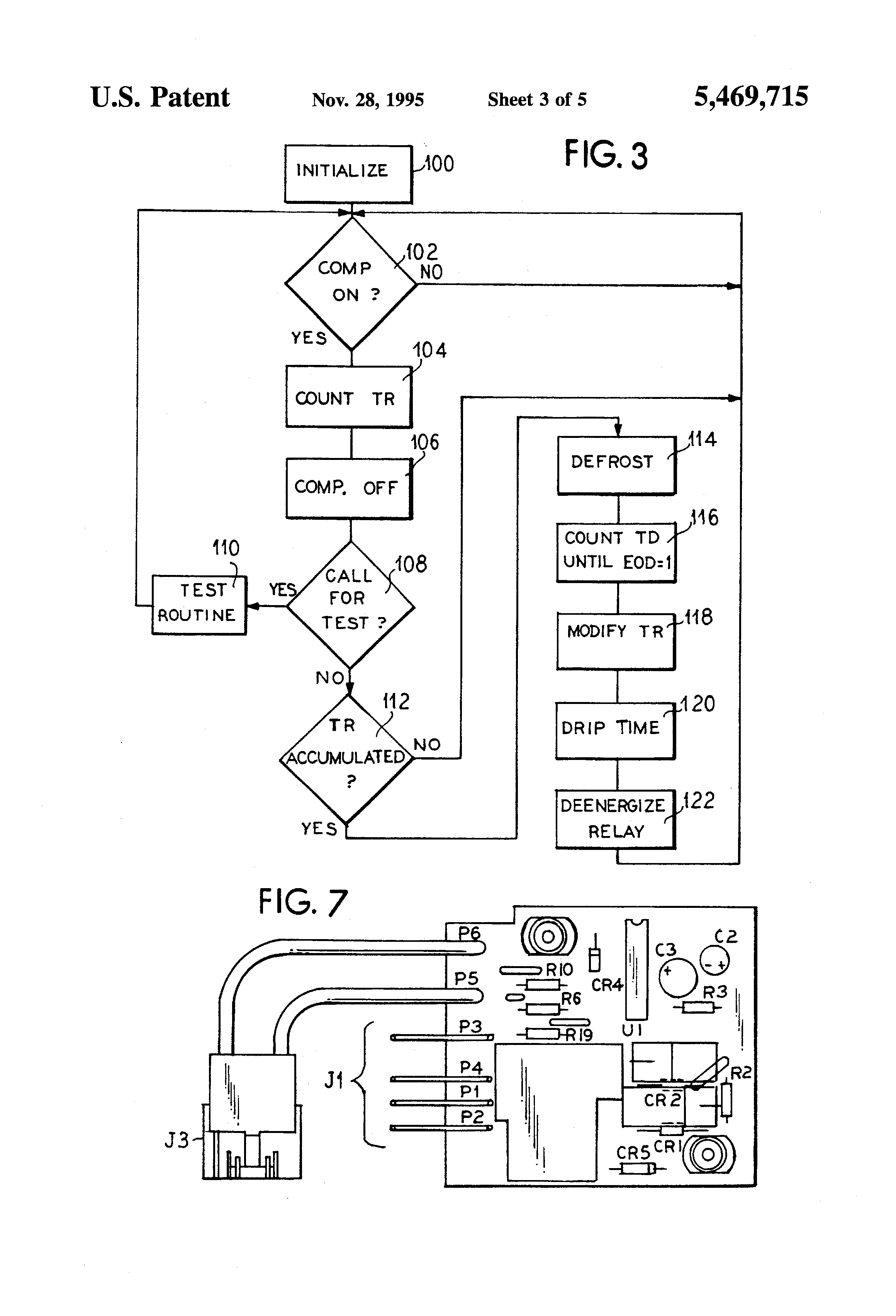patent us5469715 defrost cycle controller google patents Frozen Freezer Drain freezer evaporator coil wiring diagram