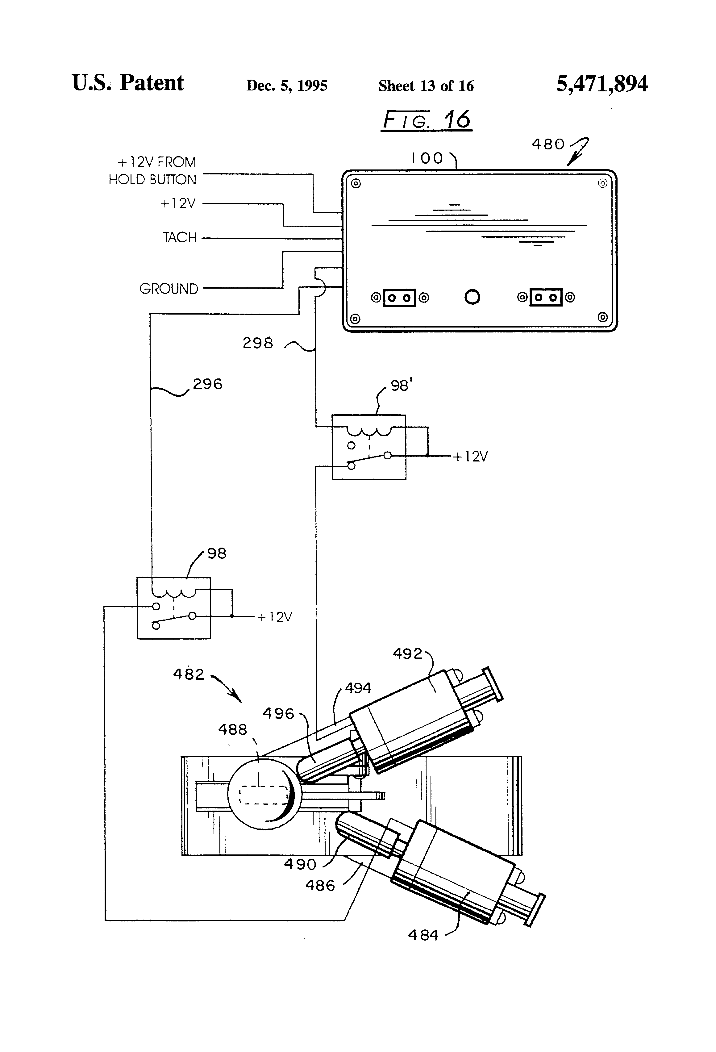 Patente US5471894 - Shifting method and controller for controlling on holley wiring diagram, accel wiring diagram, aem wiring diagram, piaa wiring diagram, msd box wiring diagram, delay box wiring diagram, dynatech wiring diagram, flex-a-lite wiring diagram, derale wiring diagram, powermaster wiring diagram, meziere wiring diagram, lokar wiring diagram, time delay switch wiring diagram,