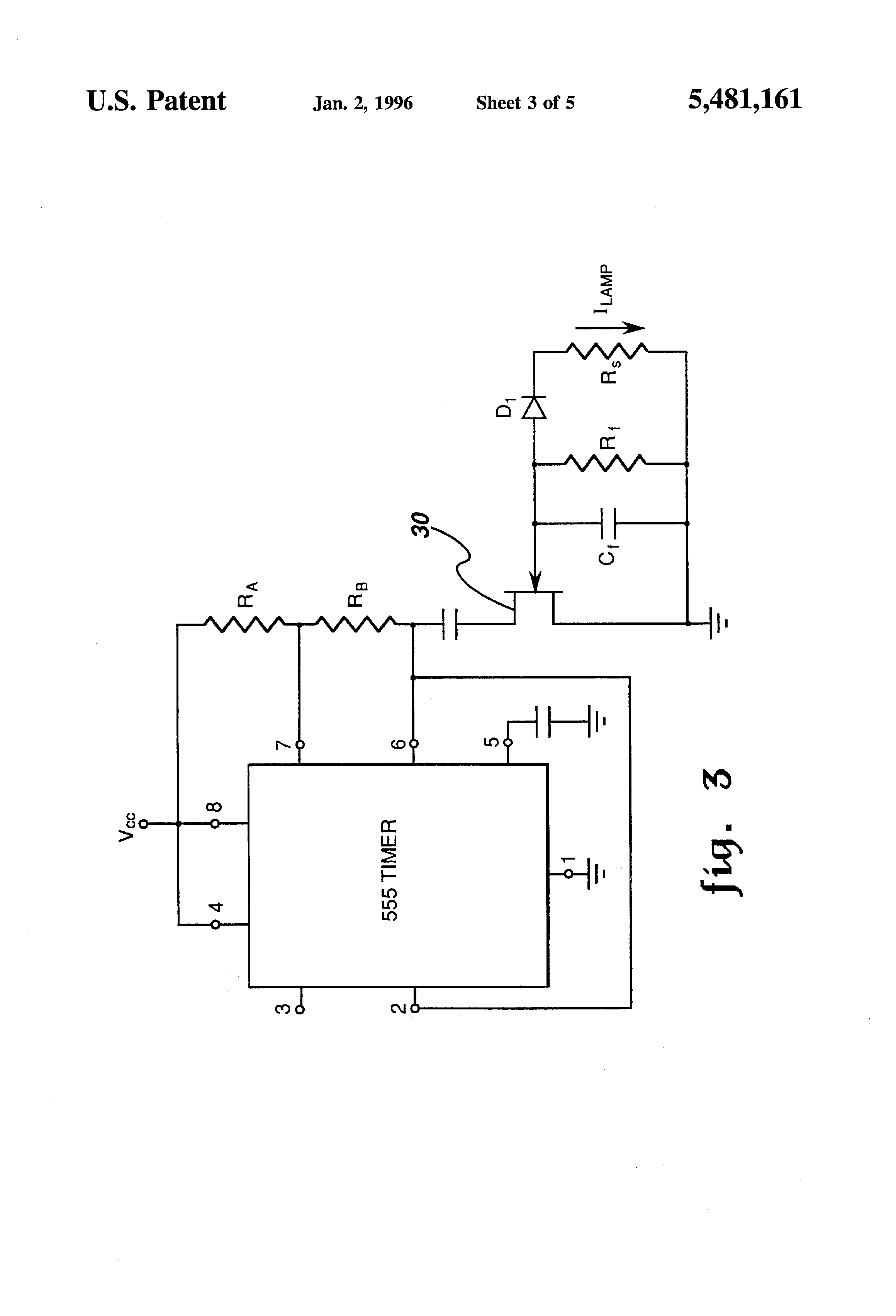 Patent Us5481161 Variable Frequency Generator For Resonant Power Step 7 555 Timer Astable Mode Duty Cycle Drawing