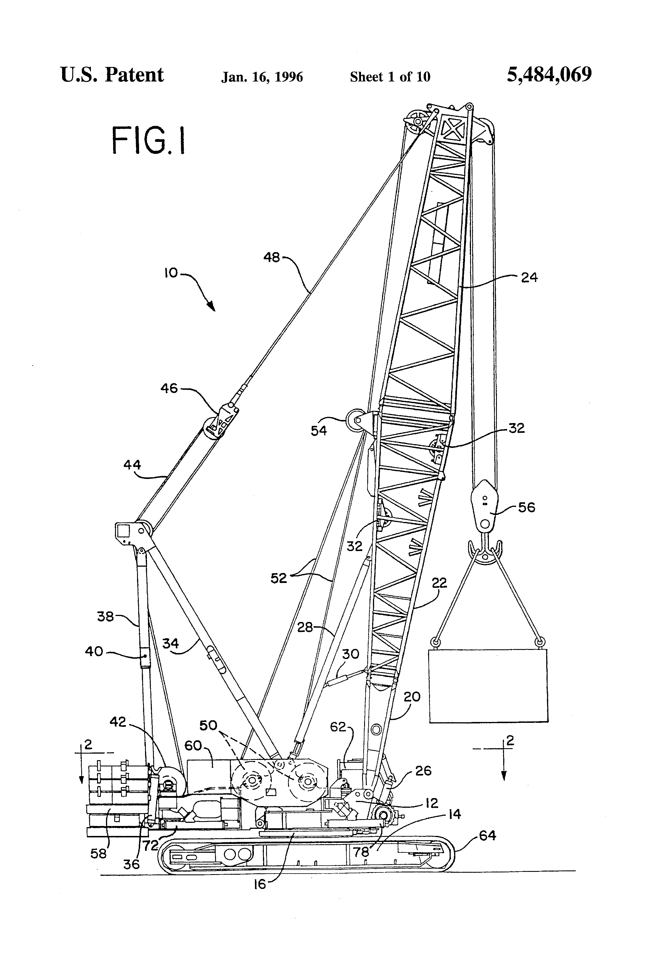 Parts Of A Crane Boom : Patent us process for self disassembling a