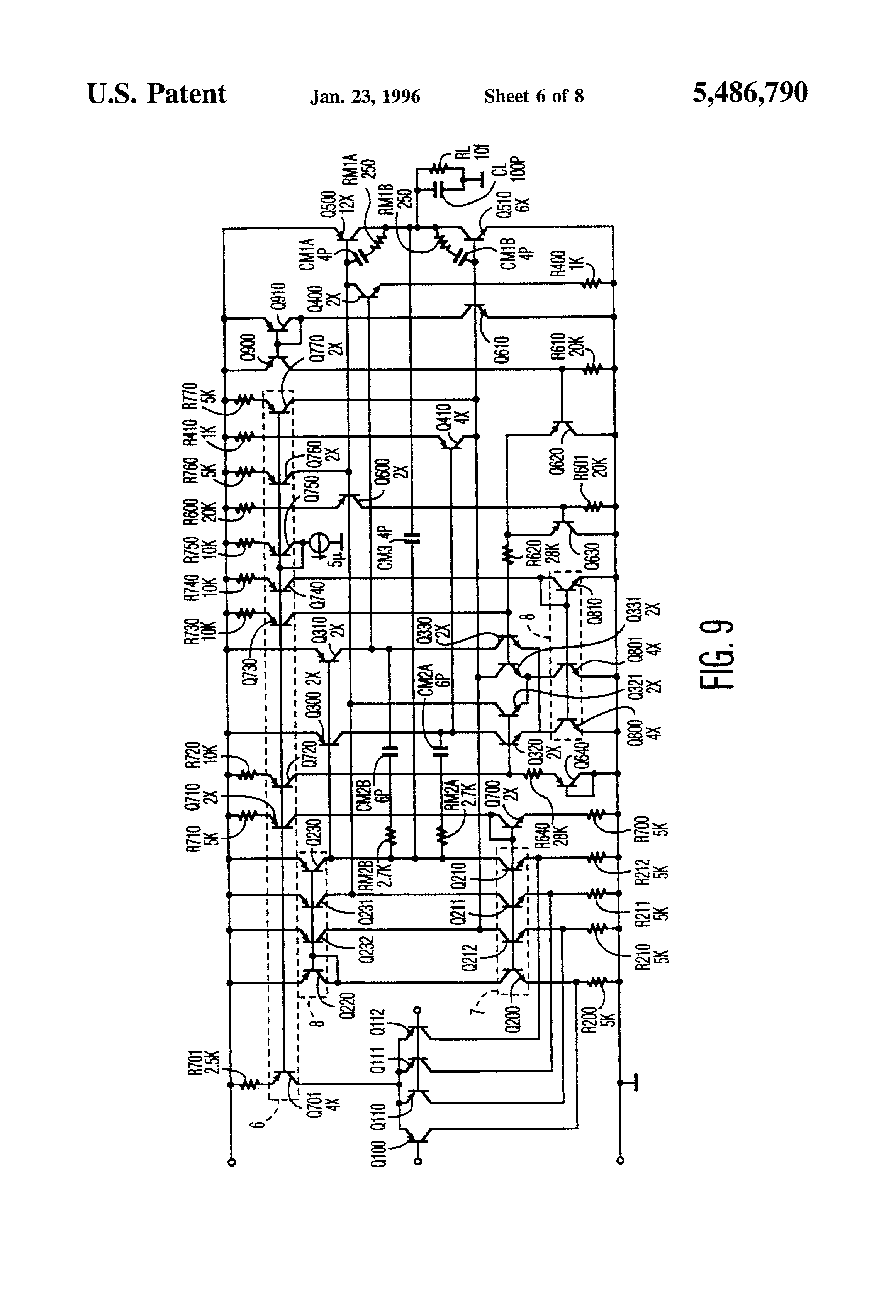 Patent Us5486790 Multistage Amplifier With Hybrid Nested Miller Simple Op Amp Inverting Circuit Employing Negative Drawing