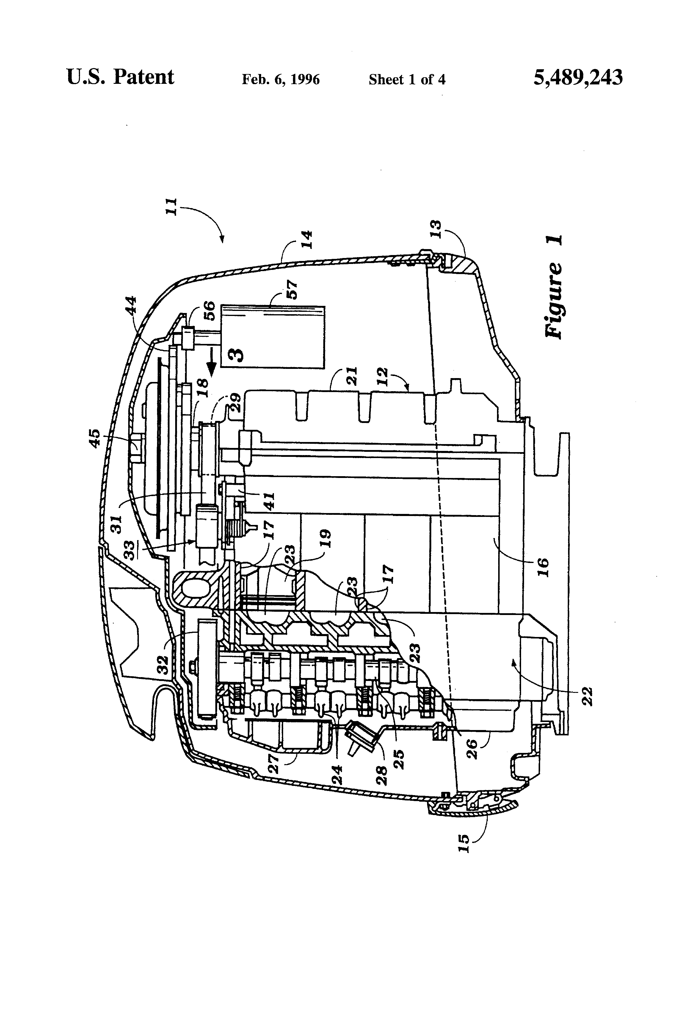 Patent Us5489243 Timing Belt Tensioner For An Engine Google Diagram Drawing