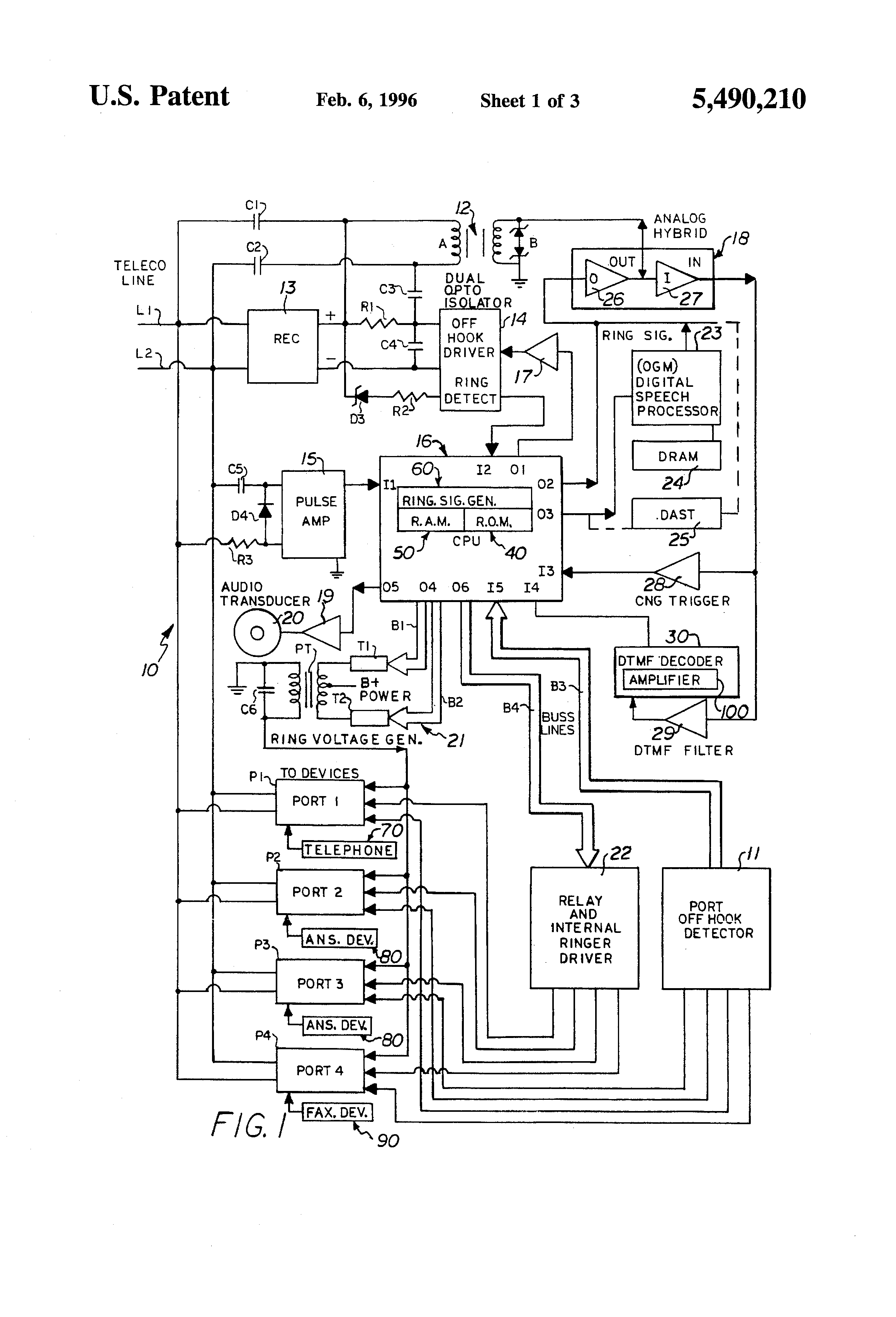 Rings Once Then Beeps 3 Times Then Hangs Up - Patent drawing
