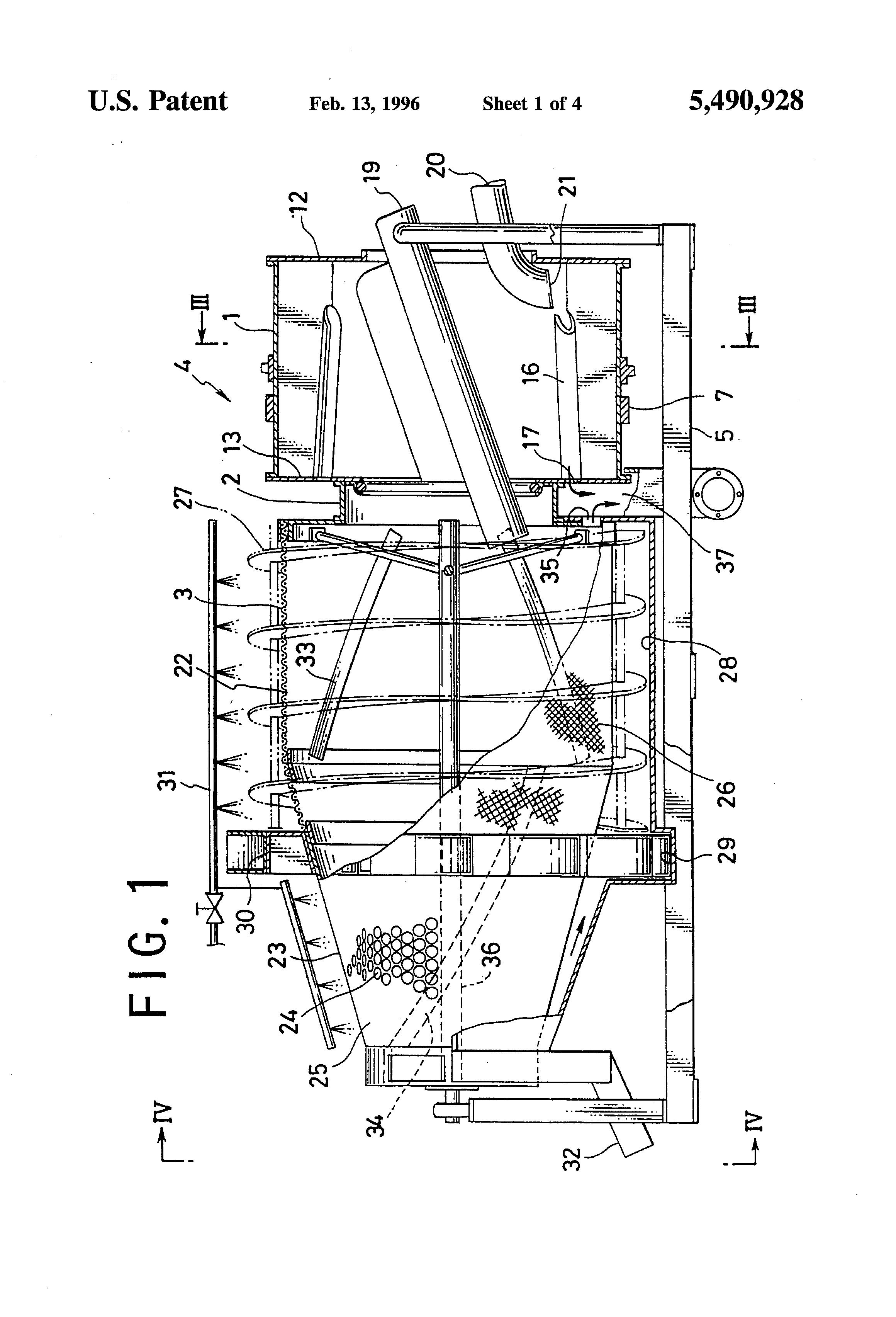 Patent Us5490928 Tandem Waterwheel Trommel Google Patents Cx500 Wiring Harness Drawing