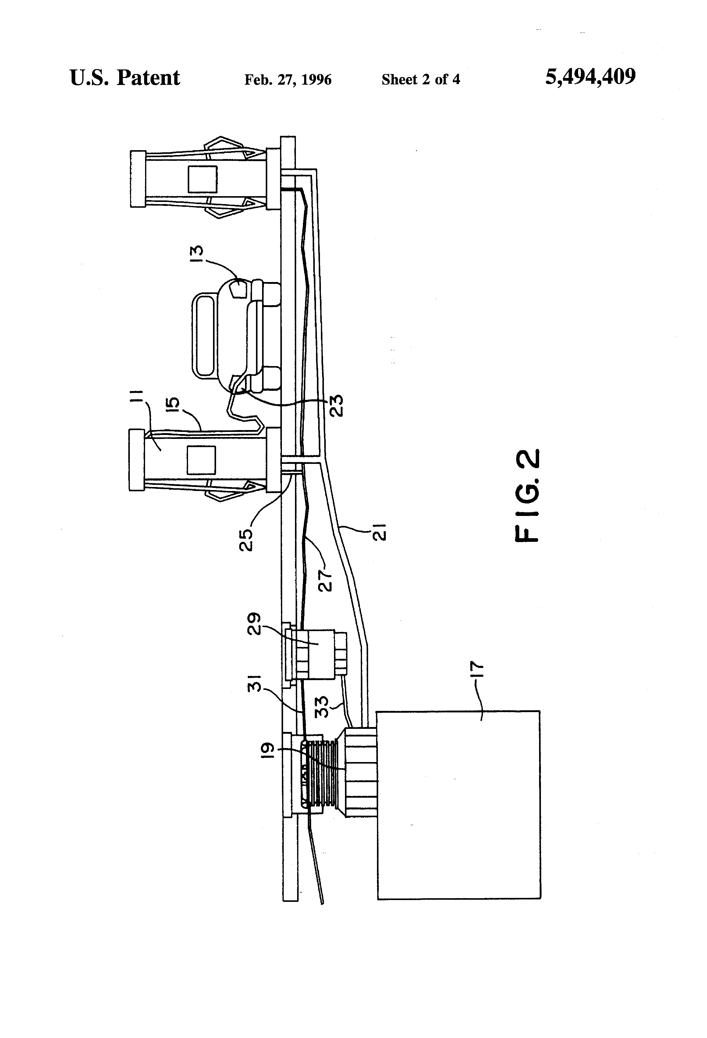 patent us5494409 - gas pump vapor recovery system
