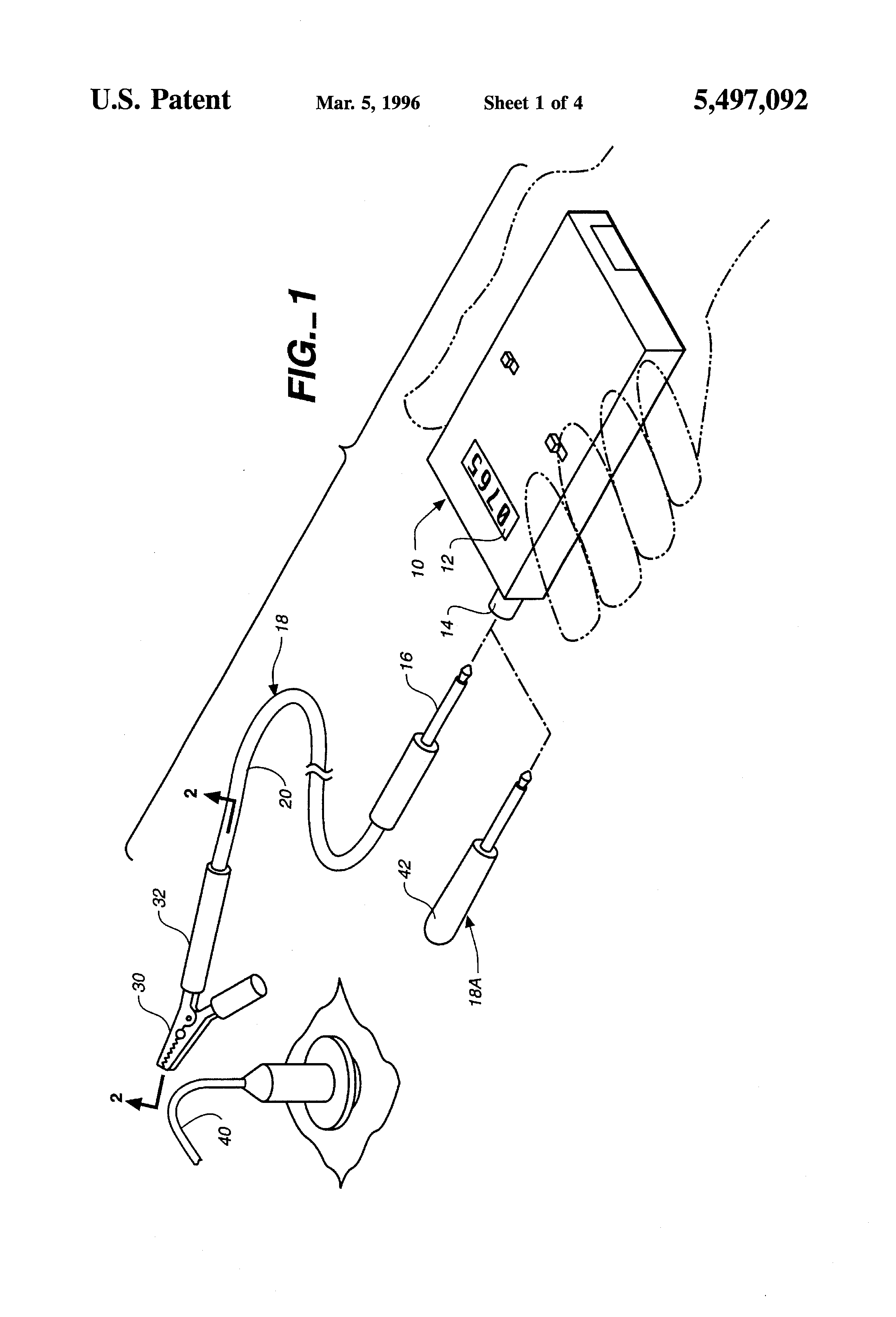 patent us5497092 - apparatus for detecting and displaying engine speed