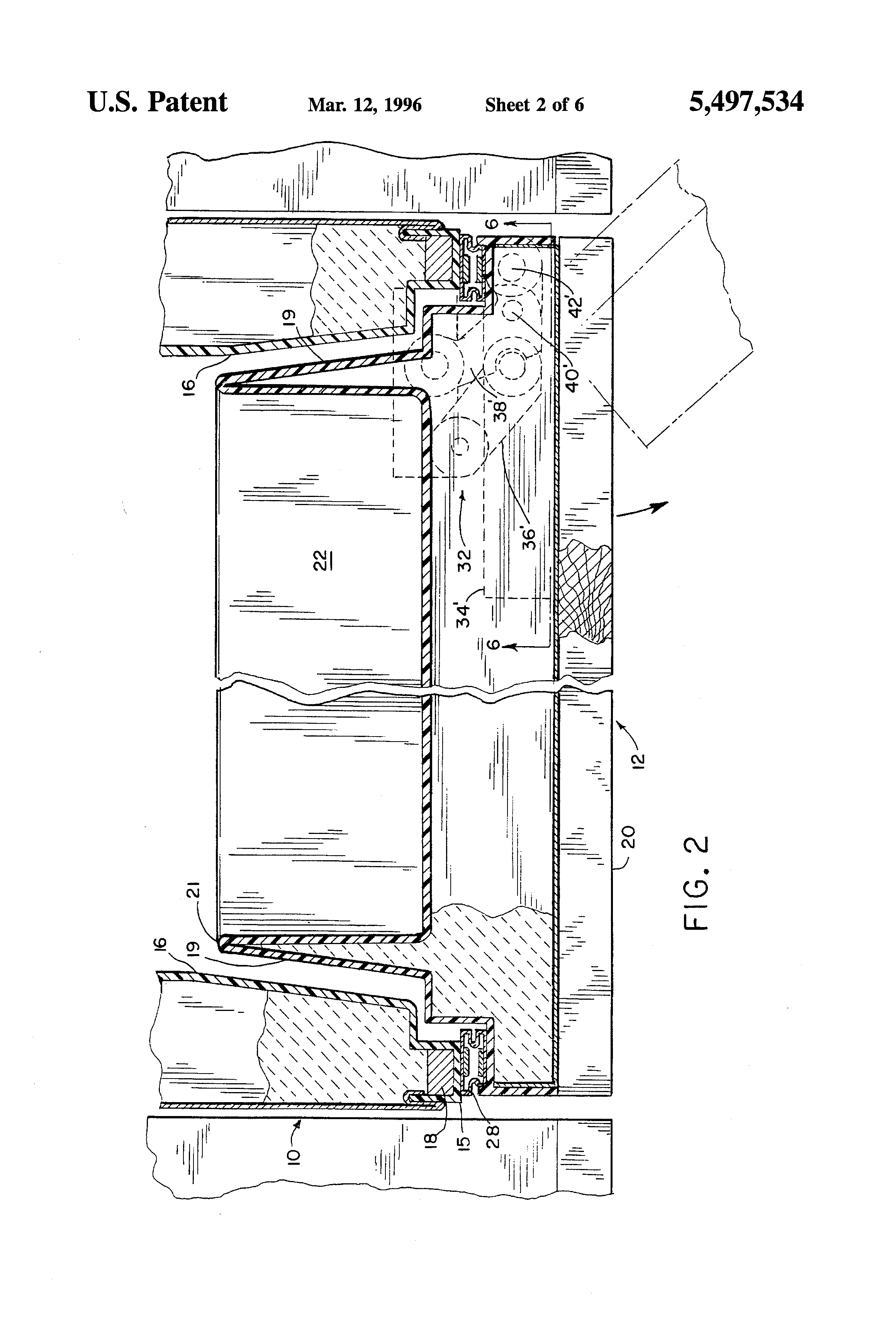 Patent US5497534 - Double arm hinge for a refrigerator door ...