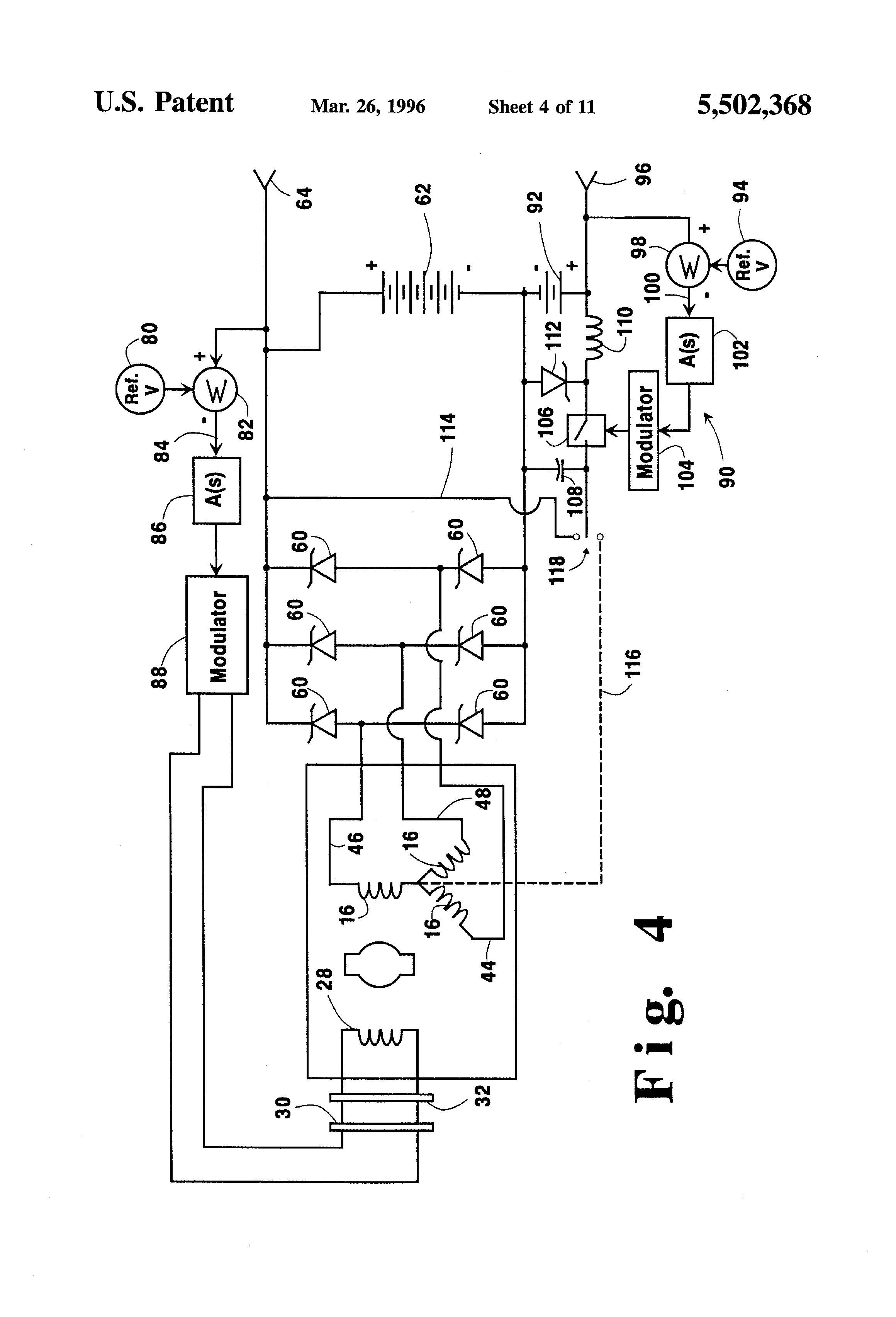 patent us5502368 - hybrid alternator with voltage regulator
