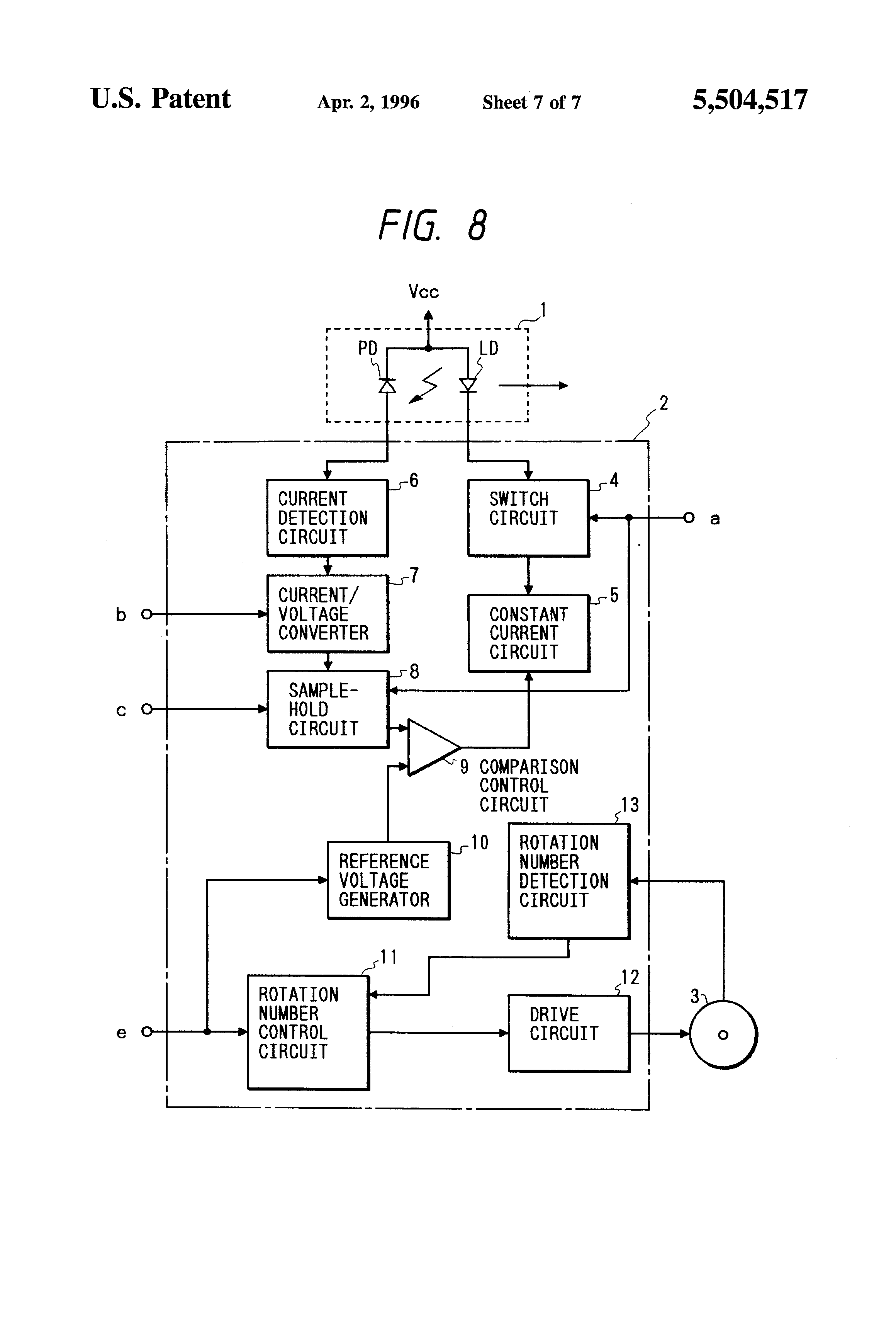 Patent Us5504517 Laser Scanner Control Circuit Which Is Used In Constantcurrent Generator Drawing