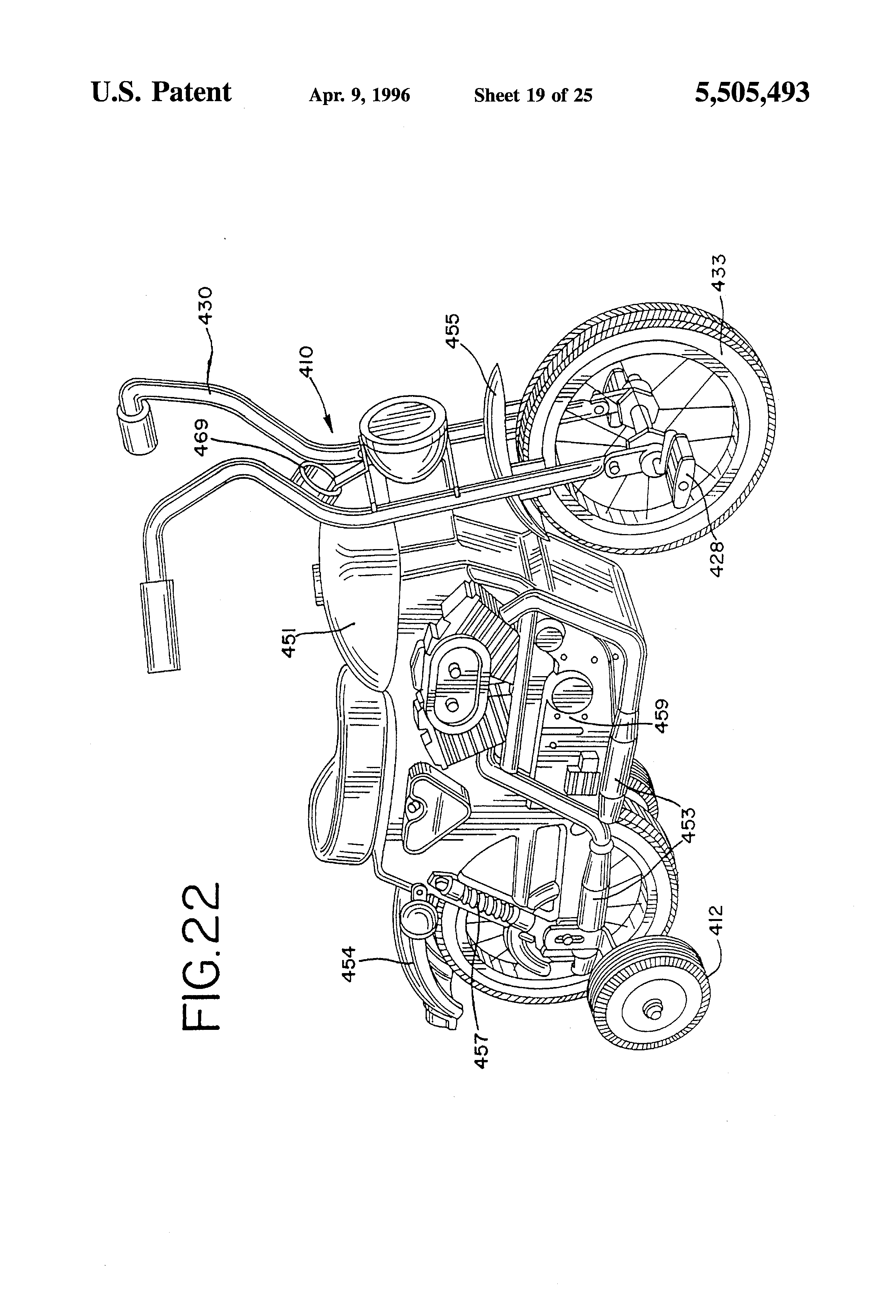 Patent US Bicycle With Simulated Motorcycle Parts - Biome map of the us drawing