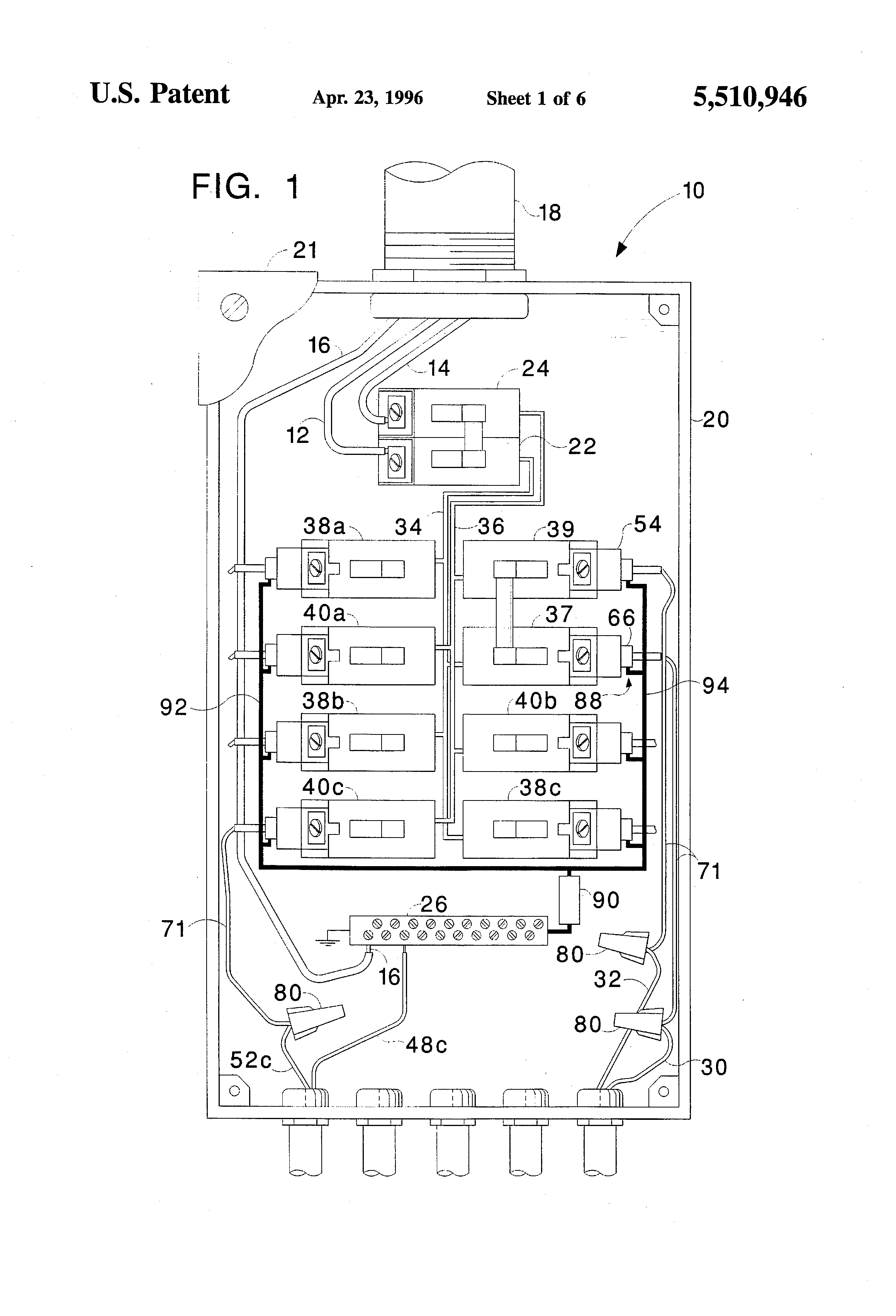 Patent Us5510946 Circuit Breaker Protection Against Arc Short Scrvoltamperecharacteristics Electronic Circuits And Diagram Drawing