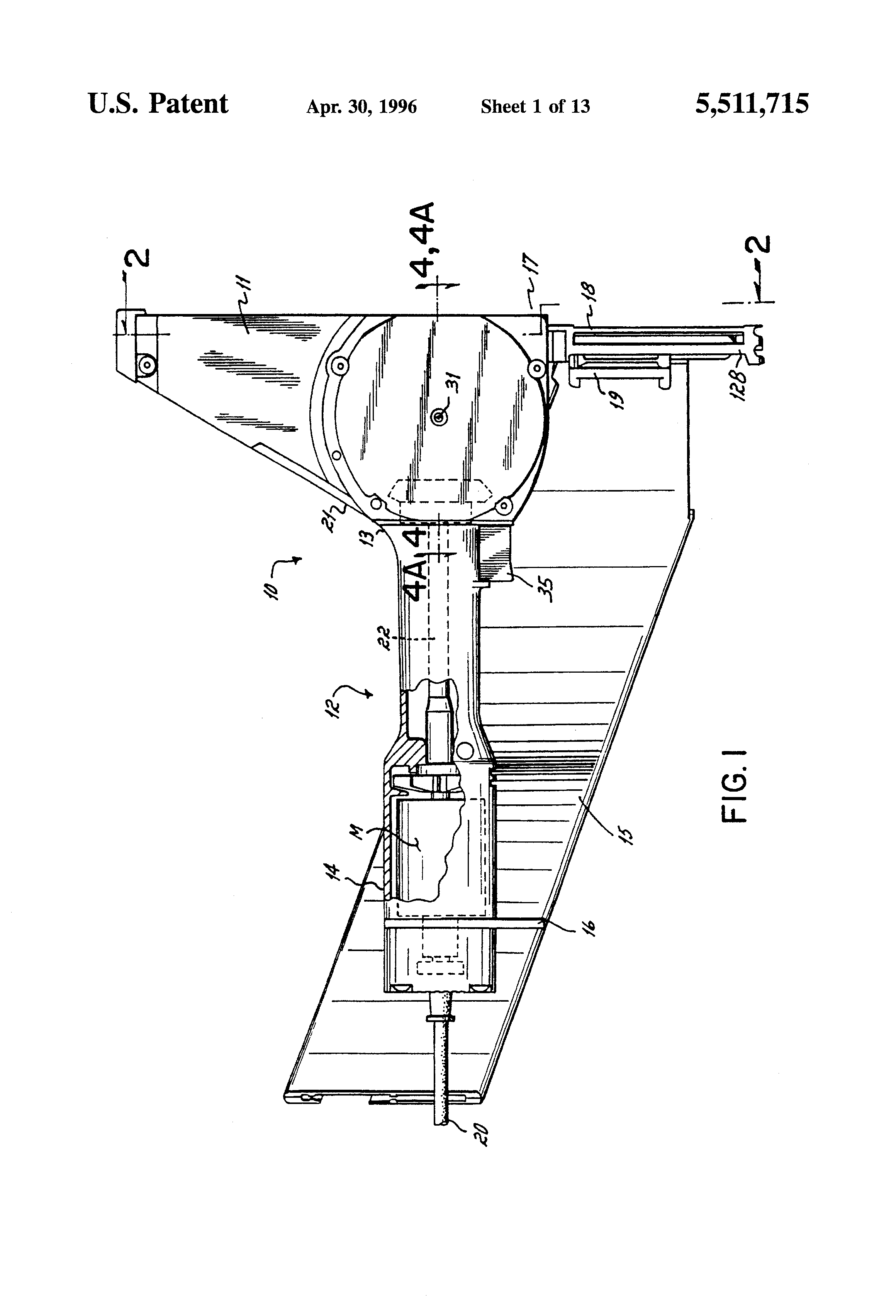 Patente Us5511715 Flywheel Driven Fastener Driving Tool And Drive Above Ill 1 Ac Powered Solenoid Coils Controlled By A Triac In An Patent Drawing