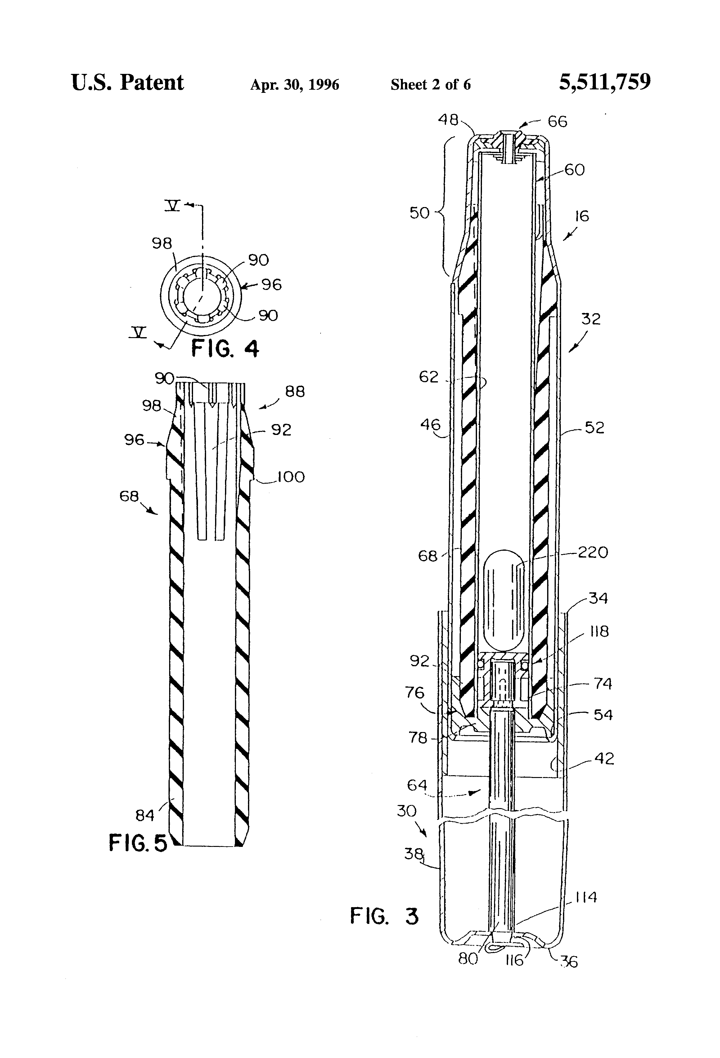 Patent Us5511759 Hydraulic Chair Height Adjustment