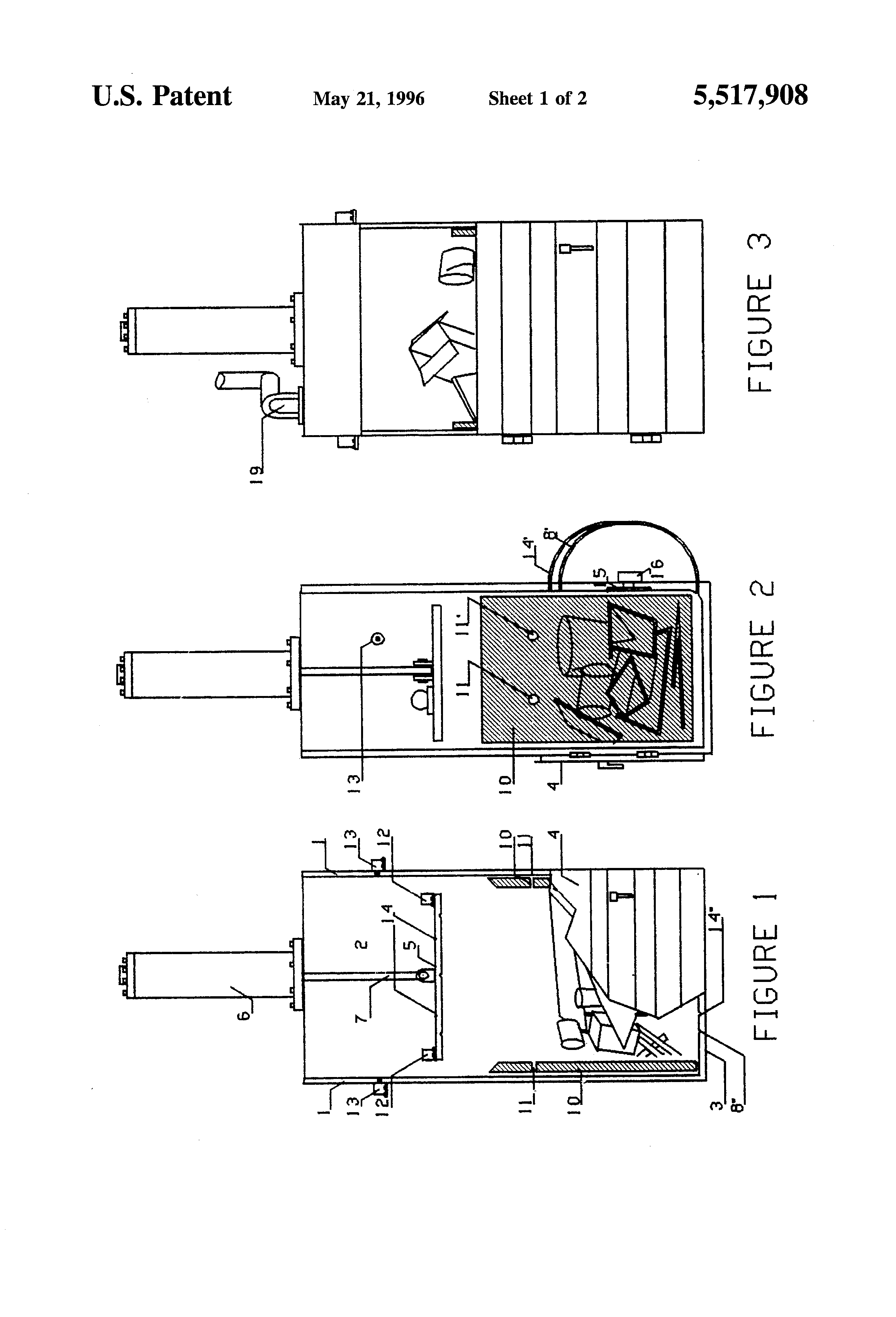 Brevet Us5517908 Baler For Compacting And Then Loading Hazardous Industrial Waste Compactors Wiring Diagrams Patent Drawing